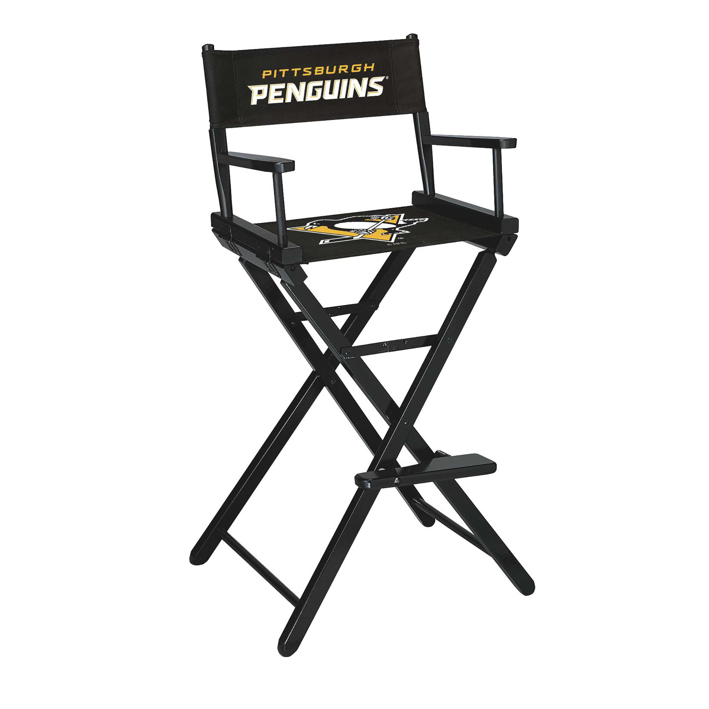 PITTSBURGH PENGUINS BAR HEIGHT DIRECTORS CHAIR