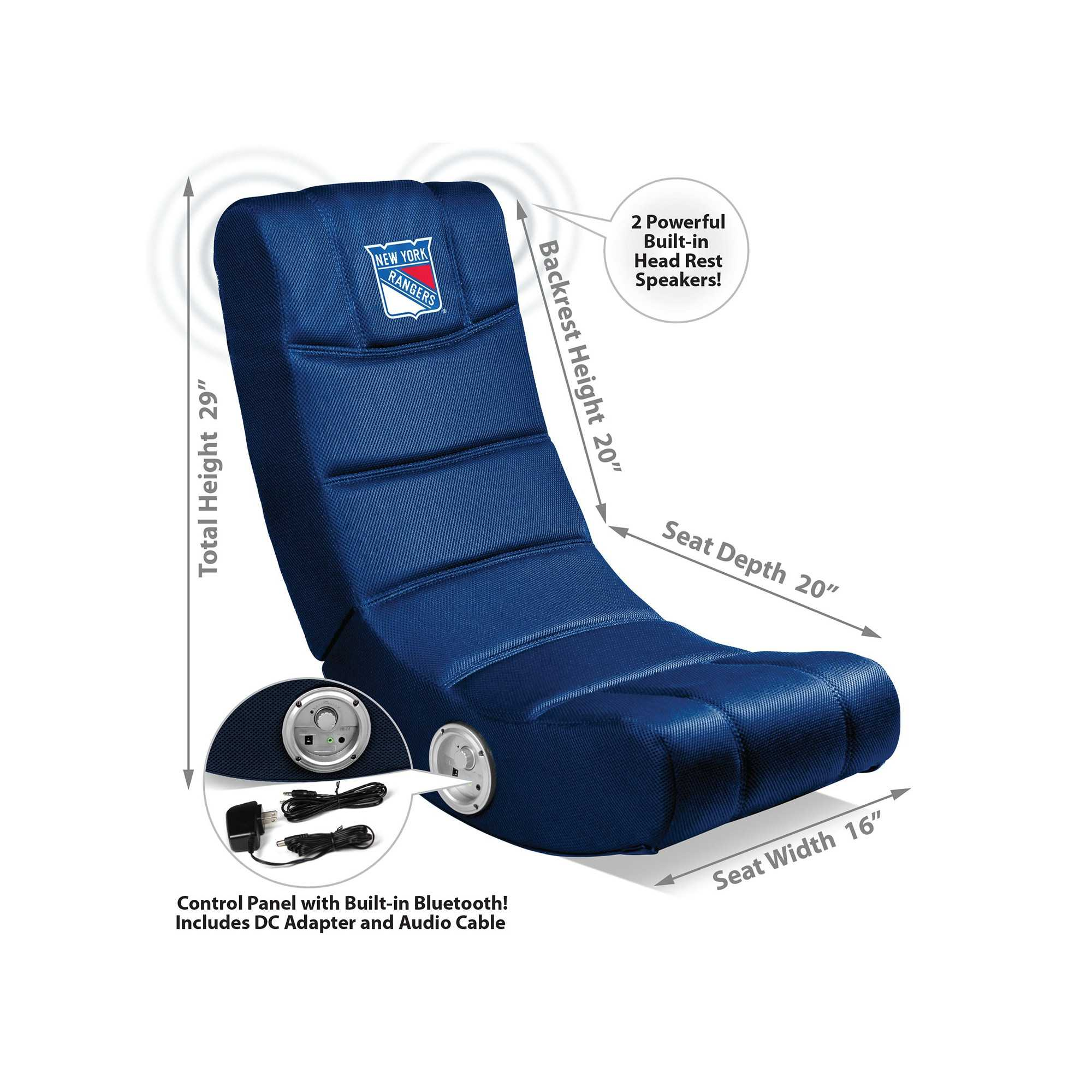 New York Rangers Video Chair W/Bluetooth