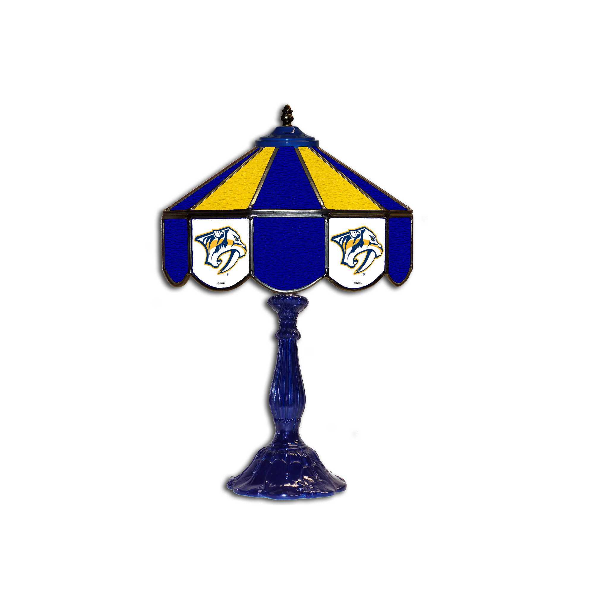 "NASHVILLE PREDATORS 21"" GLASS TABLE LAMP"