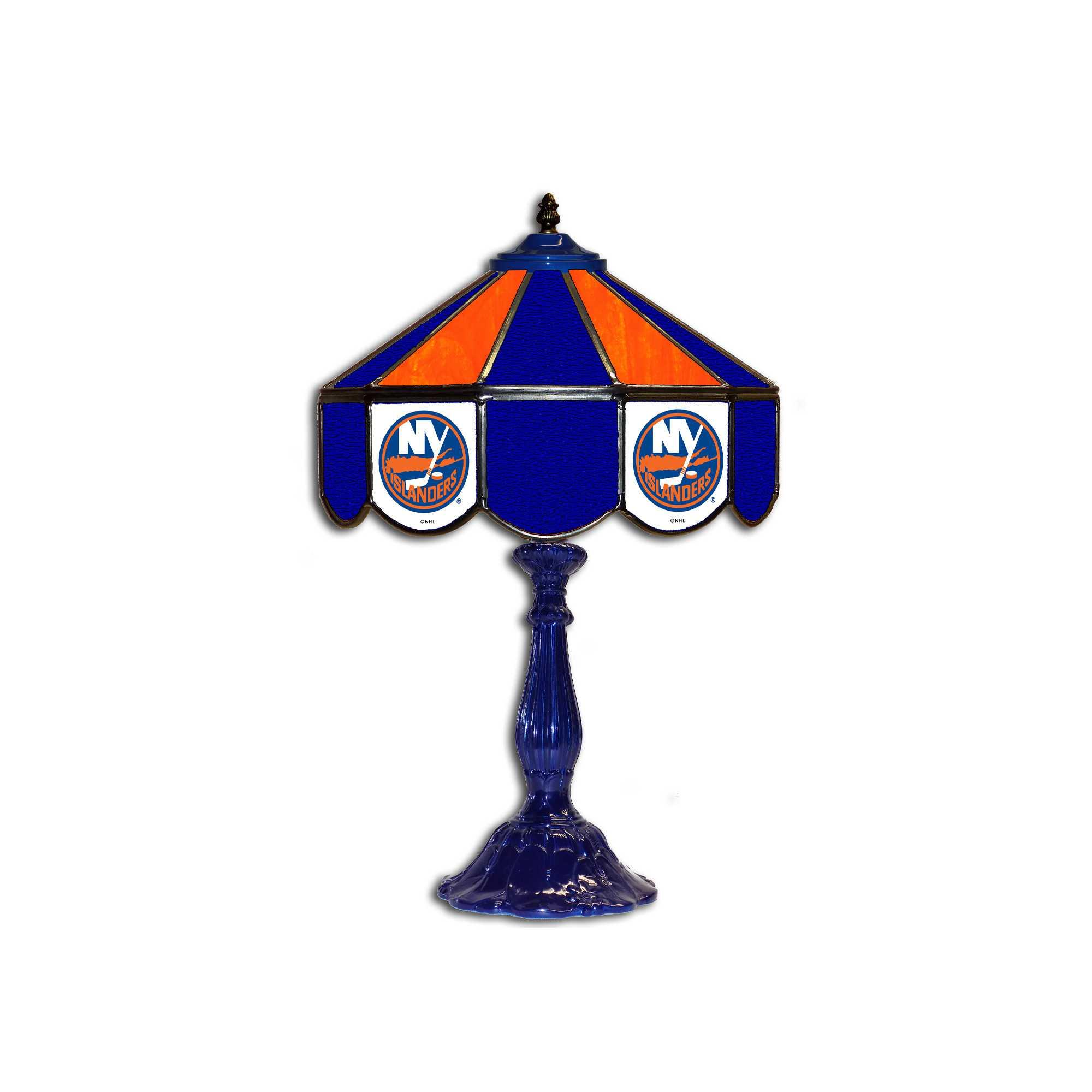 "NEW YORK ISLANDERS 21"" GLASS TABLE LAMP"
