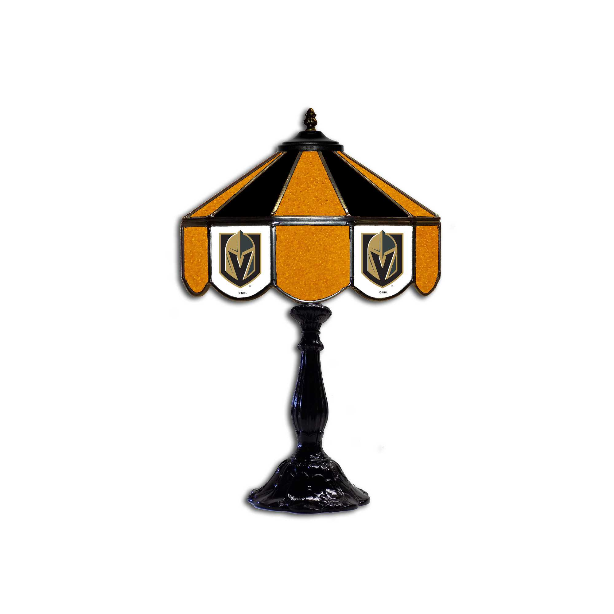 """GOLDEN KNIGHTS 21"""" GLASS TABLE LAMP"""