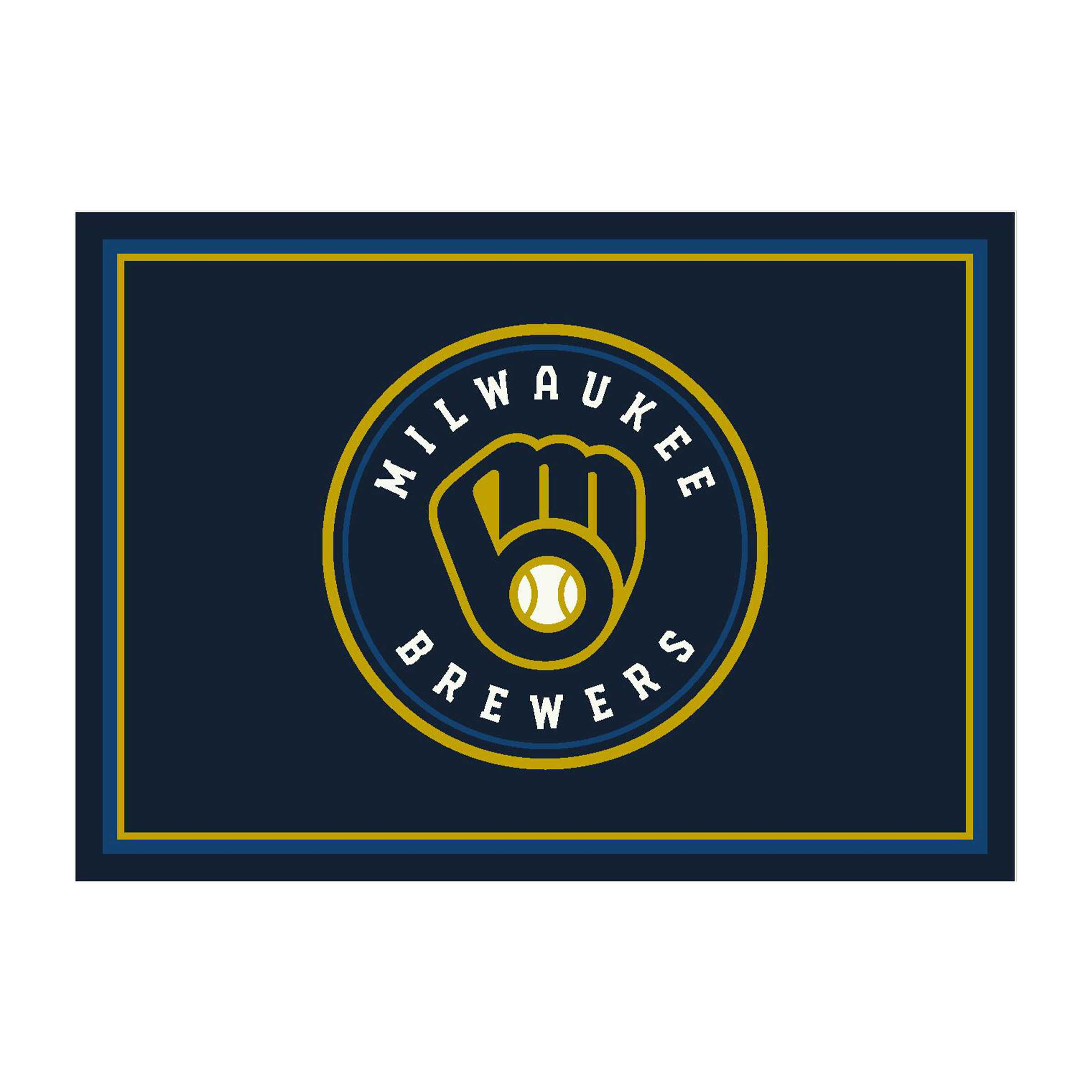 MILWAUKEE BREWERS 4X6 SPIRIT RUG
