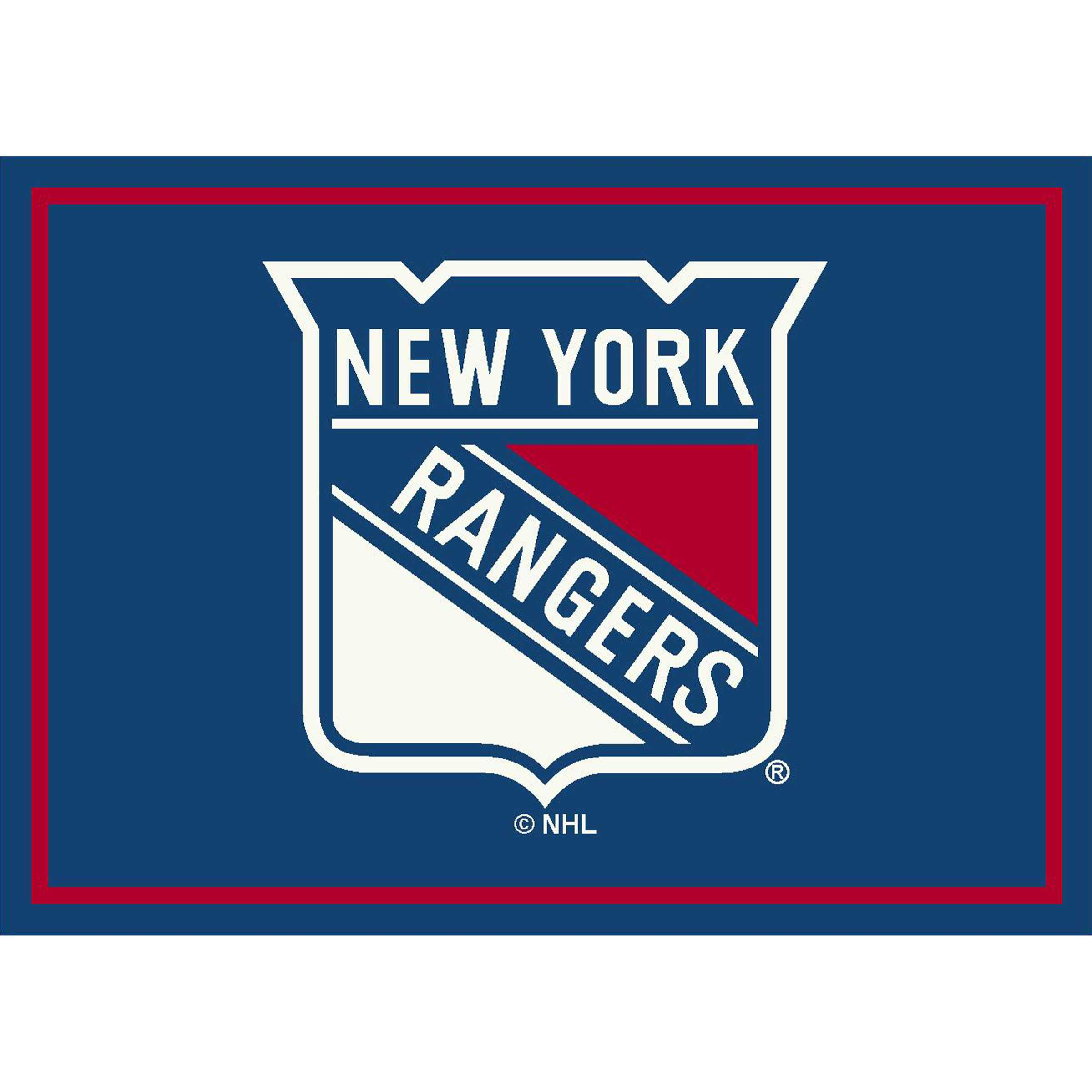 NEW YORK RANGERS 4X6 SPIRIT RUG