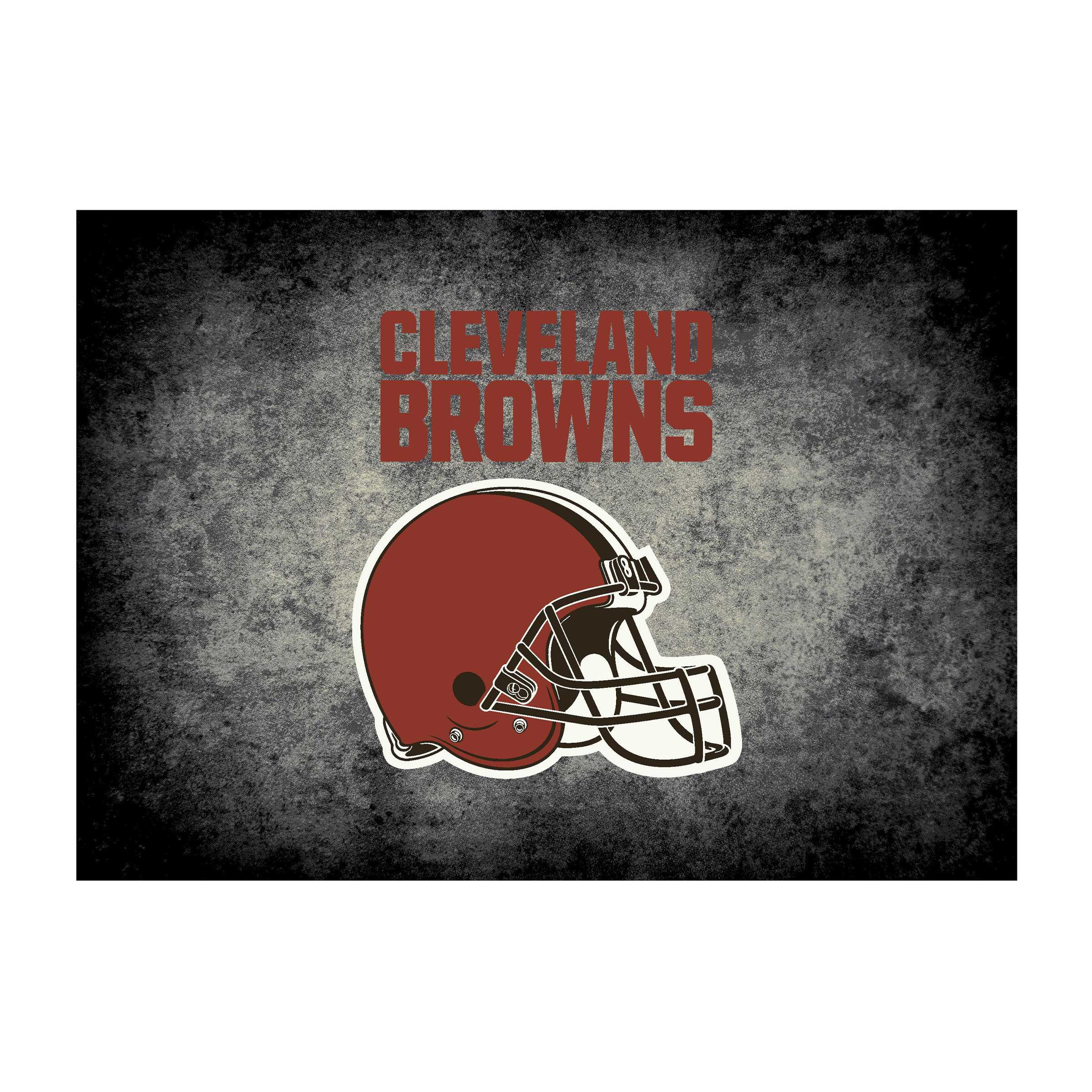 CLEVELAND BROWNS 4X6 DISTRESSED RUG