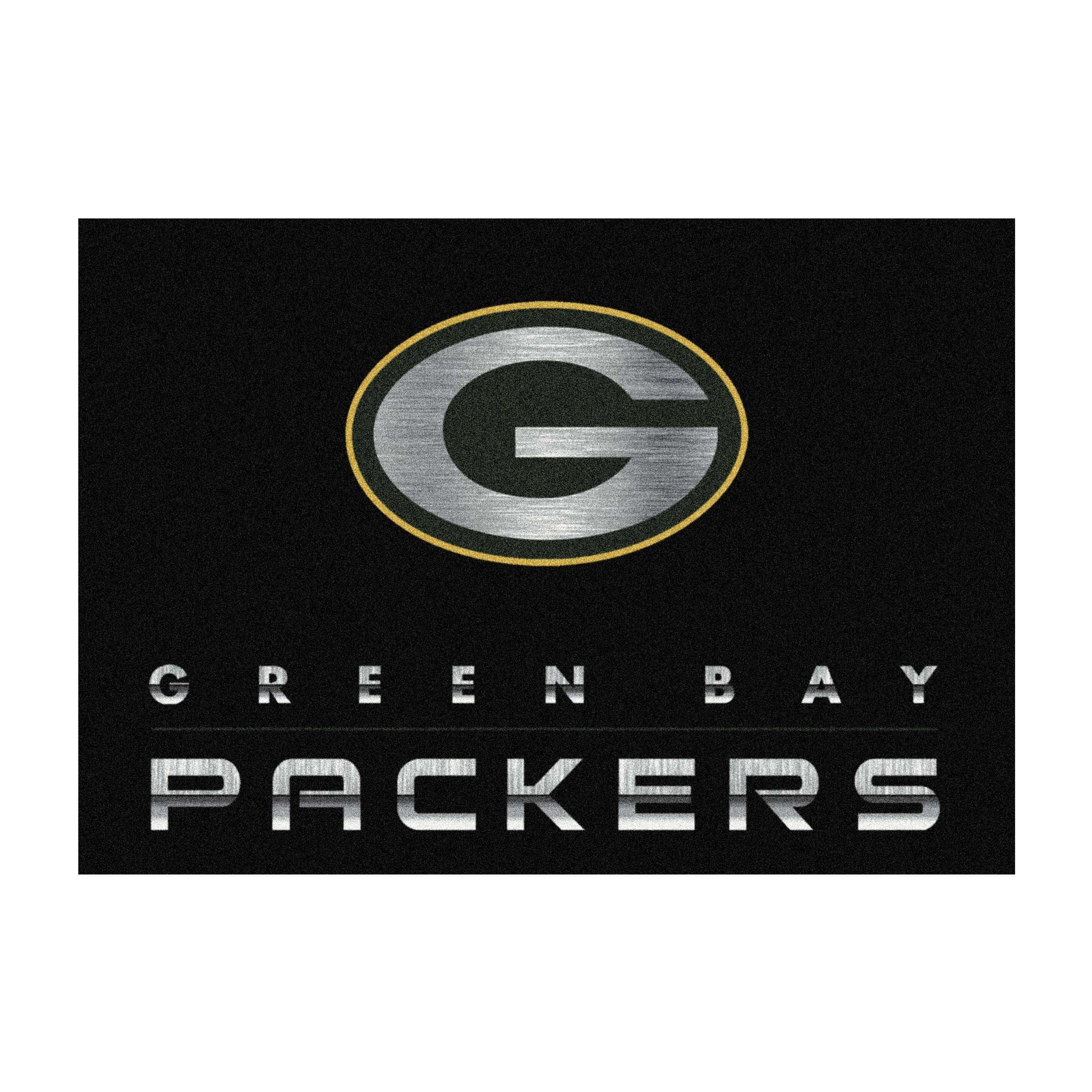 GREEN BAY PACKERS 4X6 CHROME RUG