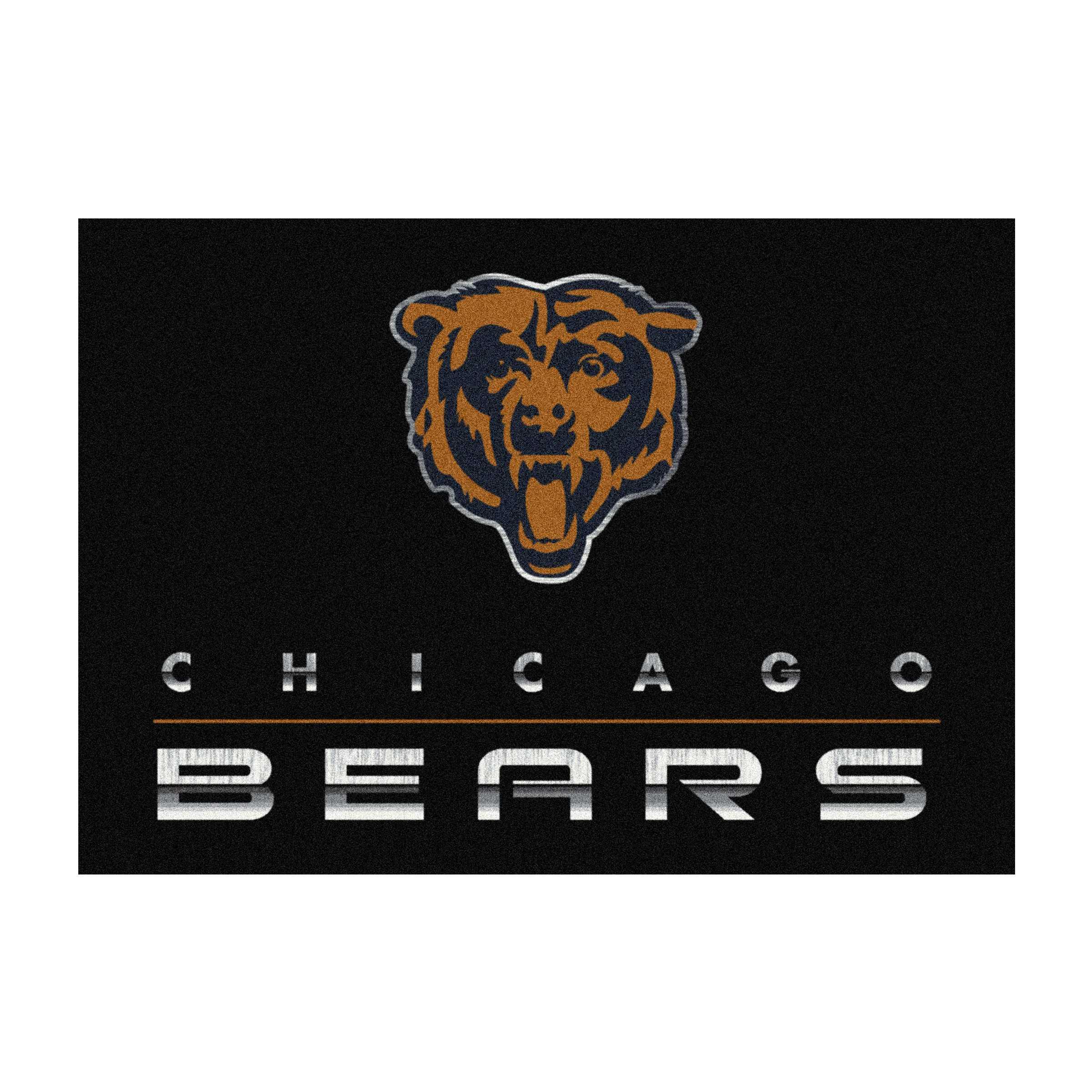 CHICAGO BEARS 4X6 CHROME RUG