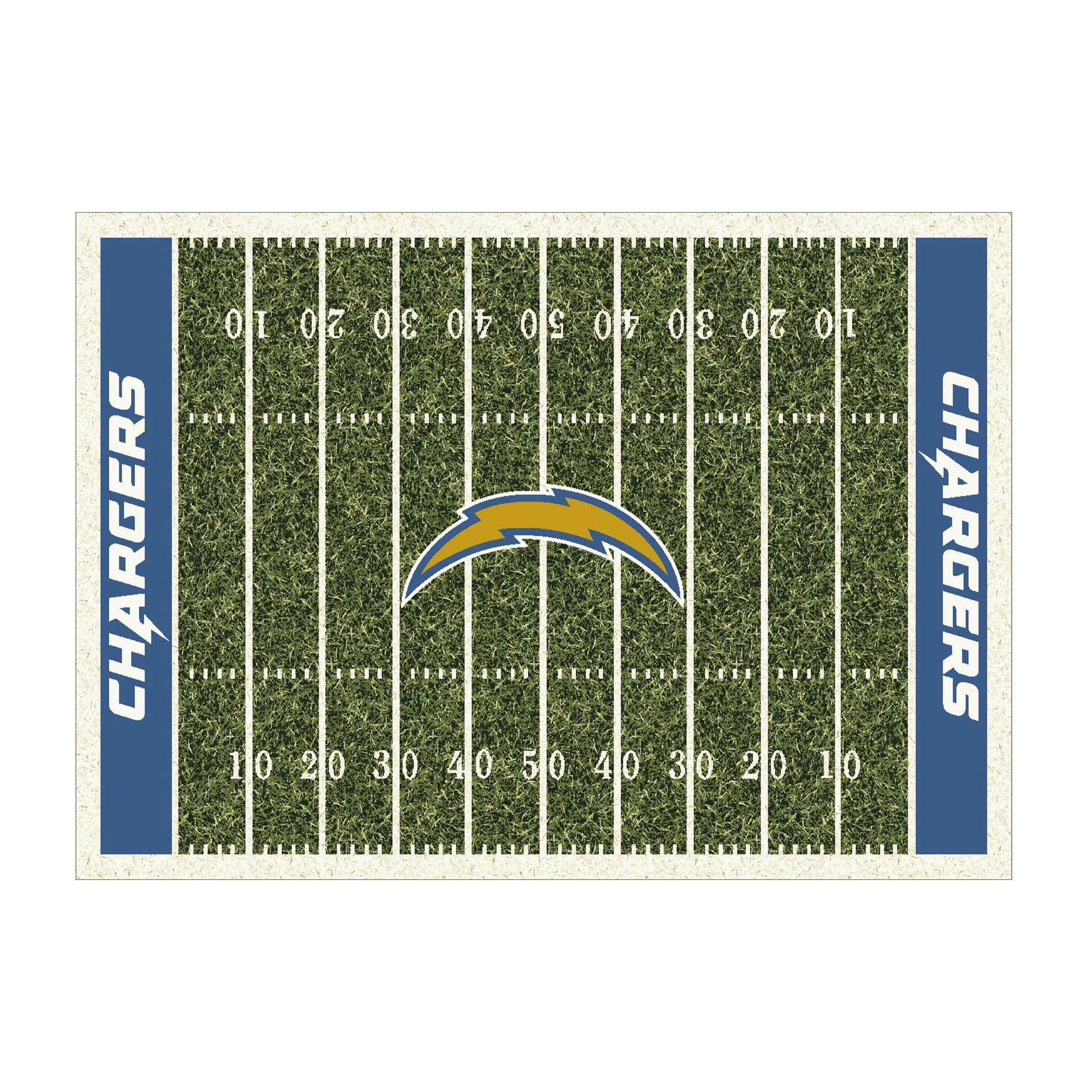 LOS ANGELES CHARGERS 6X8 HOMEFIELD RUG