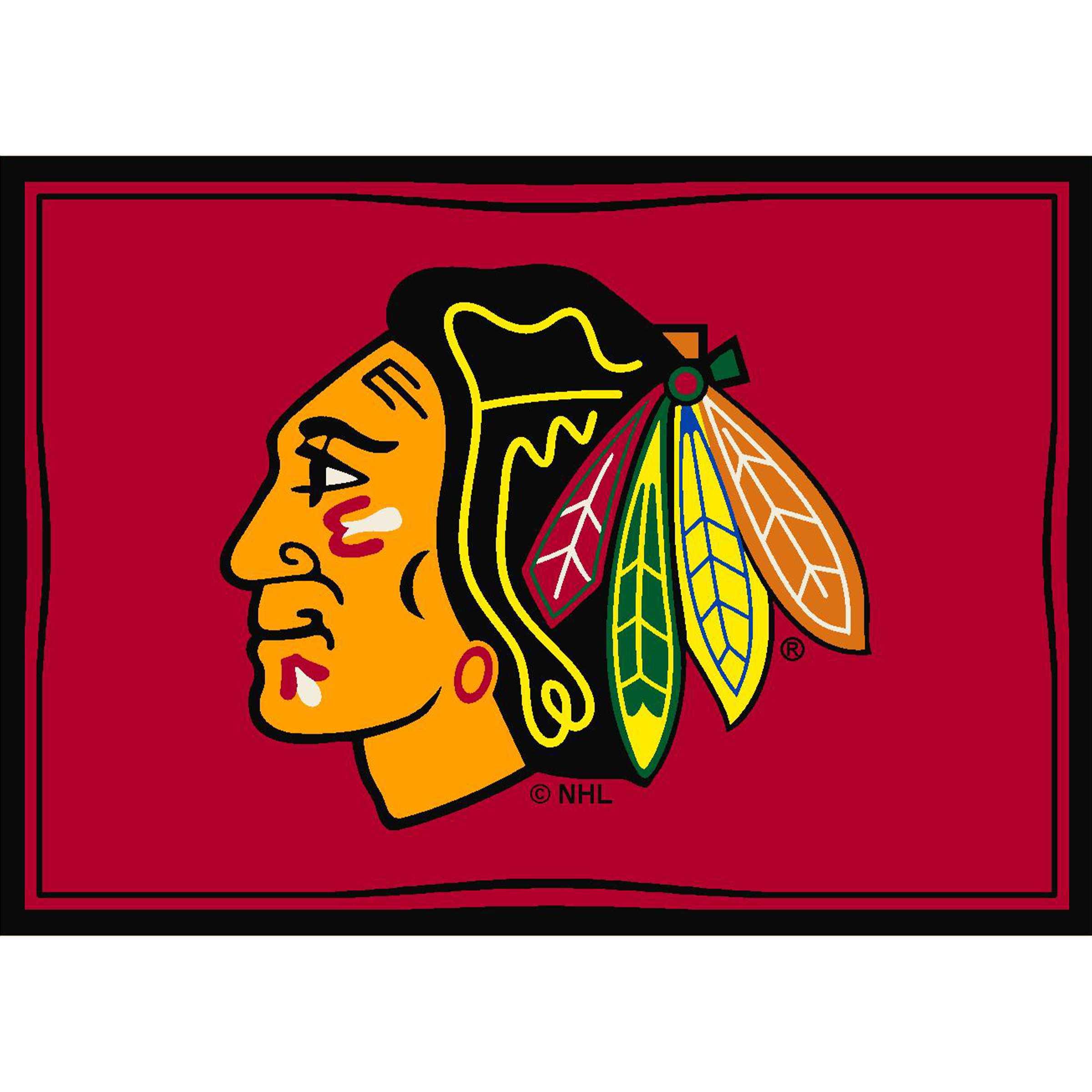 CHICAGO BLACKHAWKS 6X8 SPIRIT RUG