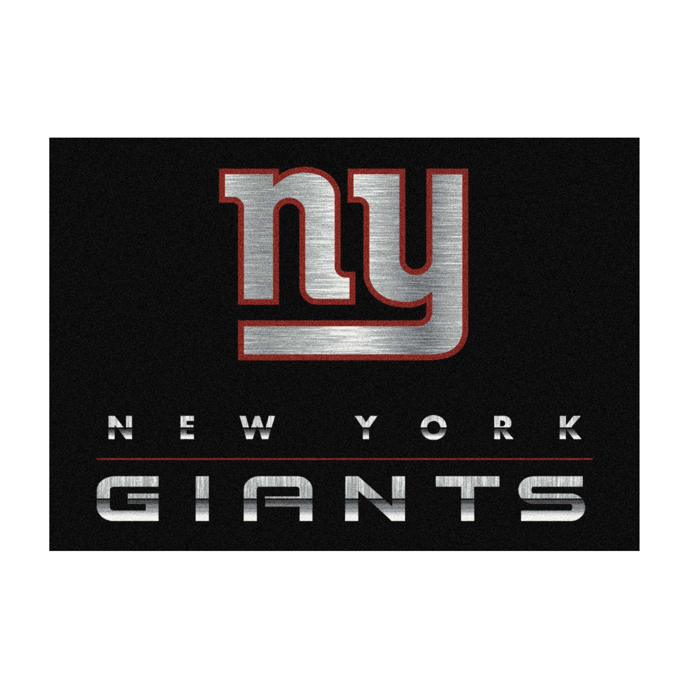NEW YORK GIANTS 6X8 CHROME RUG
