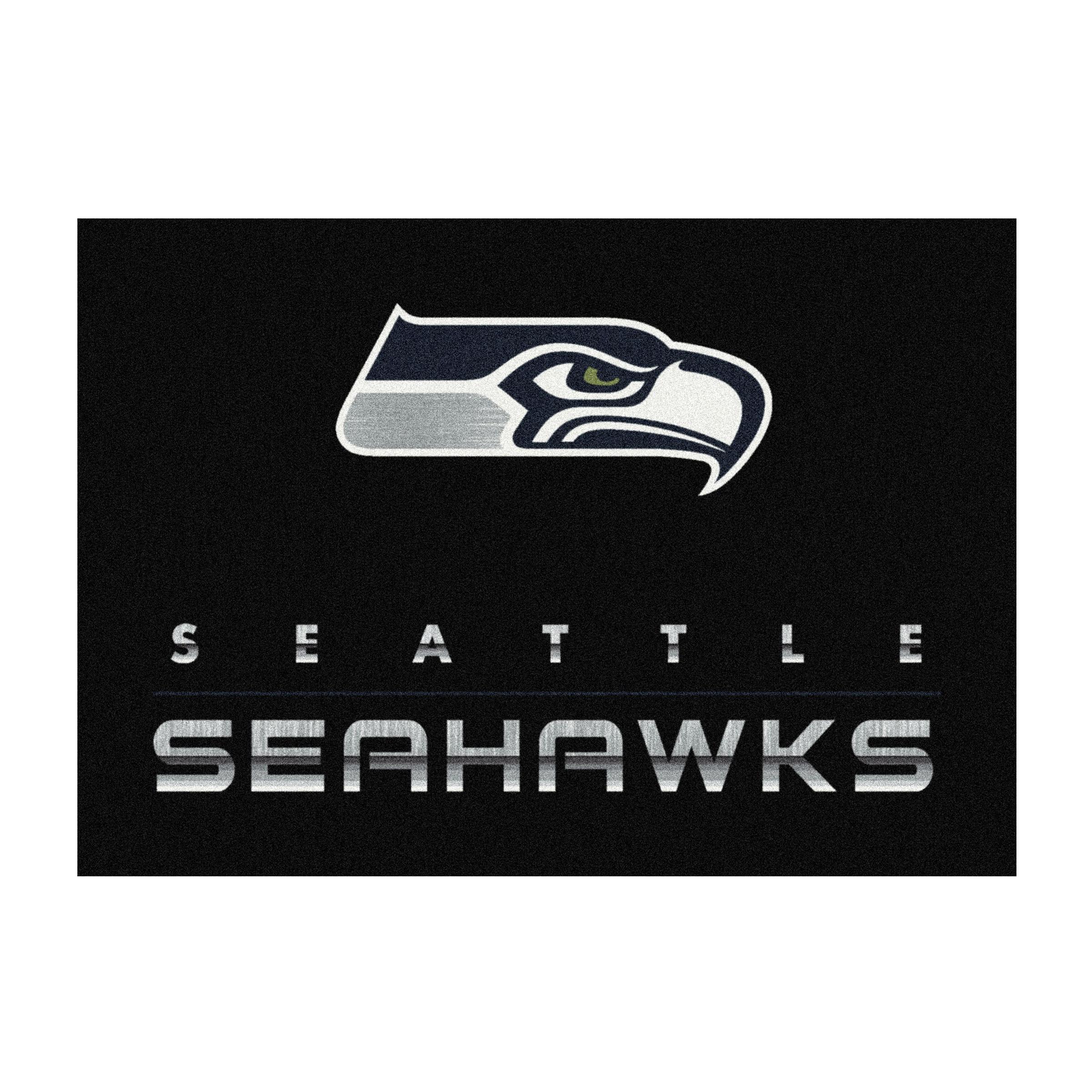 SEATTLE SEAHAWKS 6X8 CHROME RUG