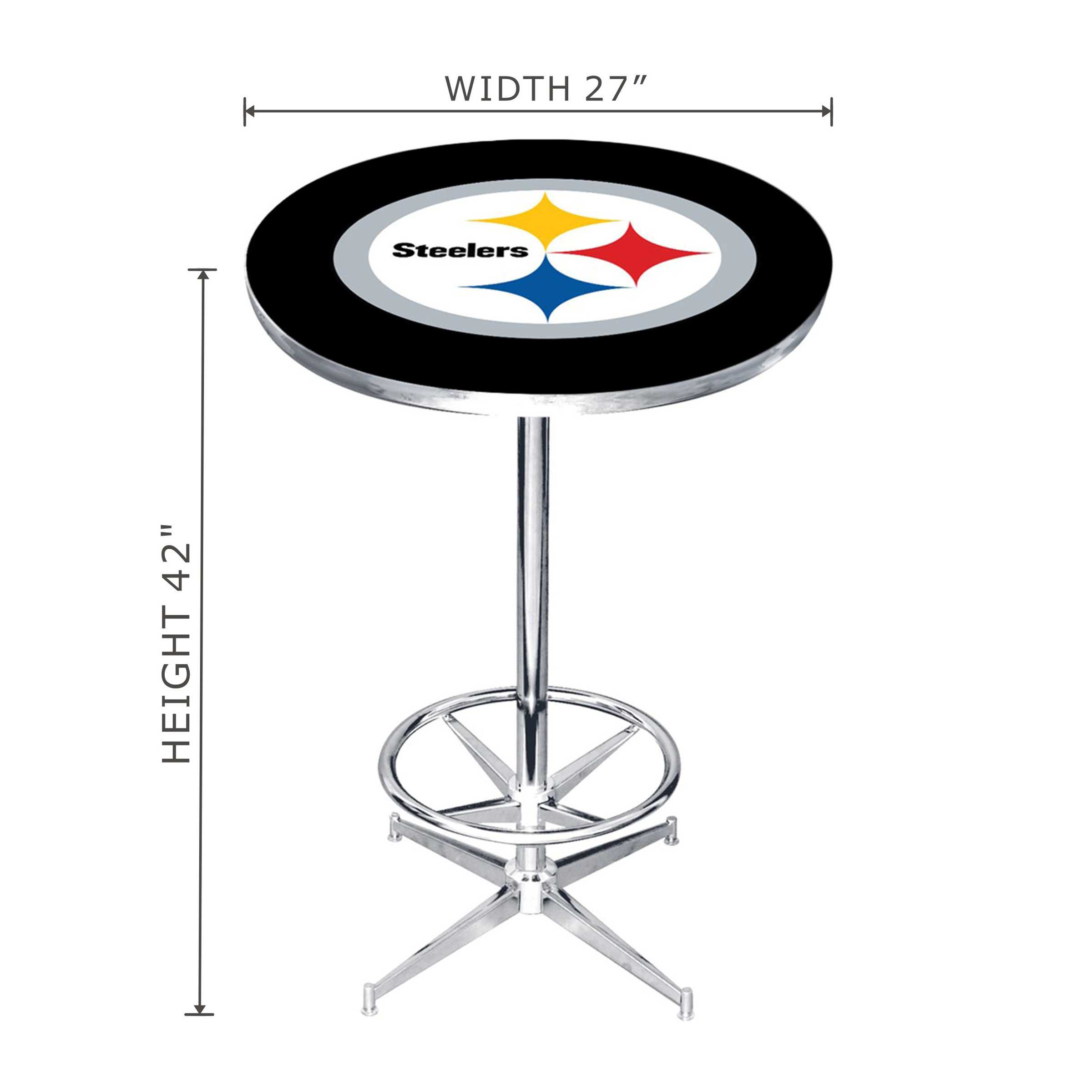 PITTS STEELERS PUB TABLE