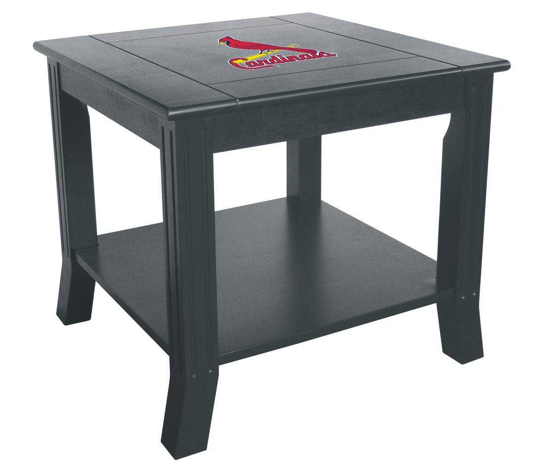 ST LOUIS CARDINALS SIDE TABLE
