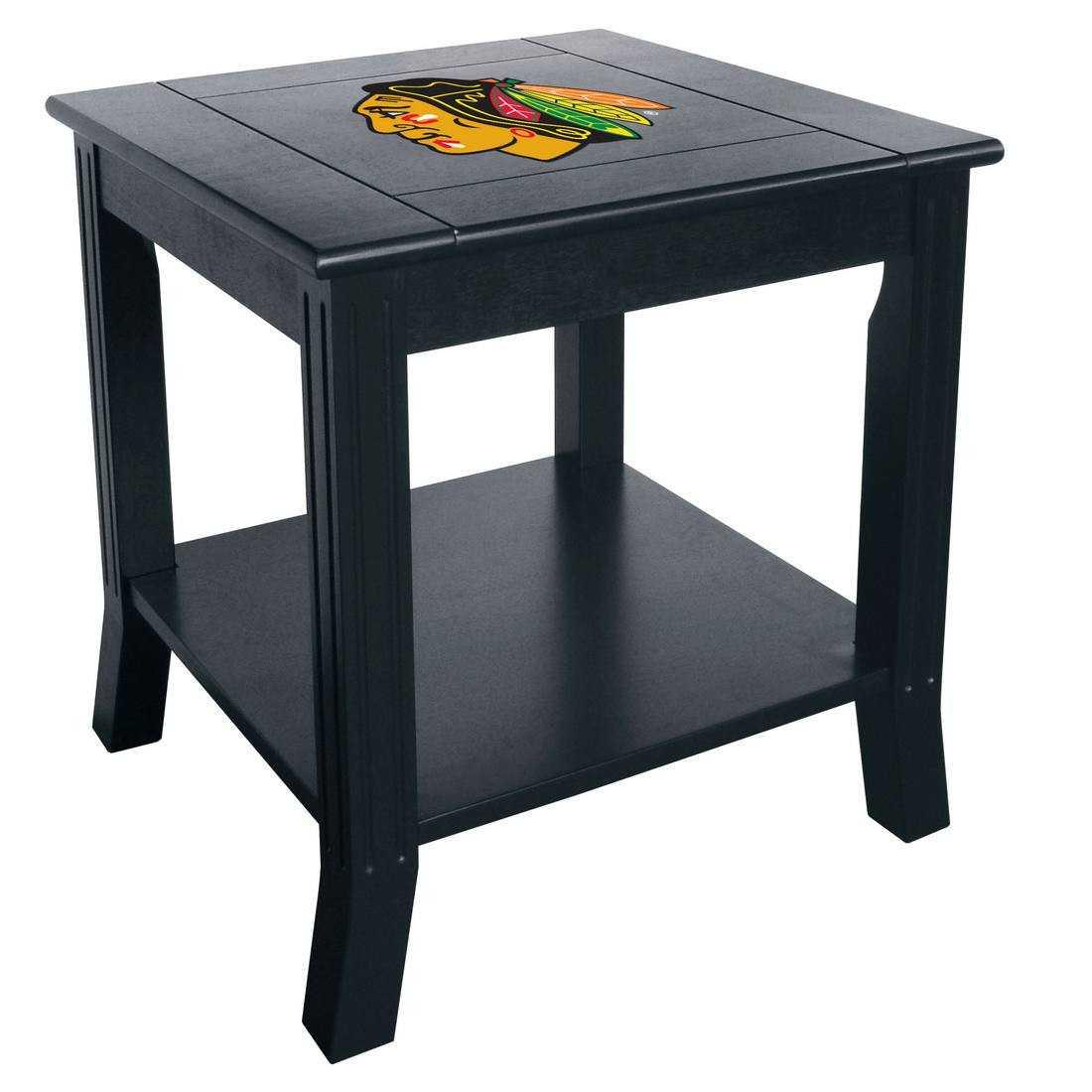 CHICAGO BLACKHAWKS SIDE TABLE