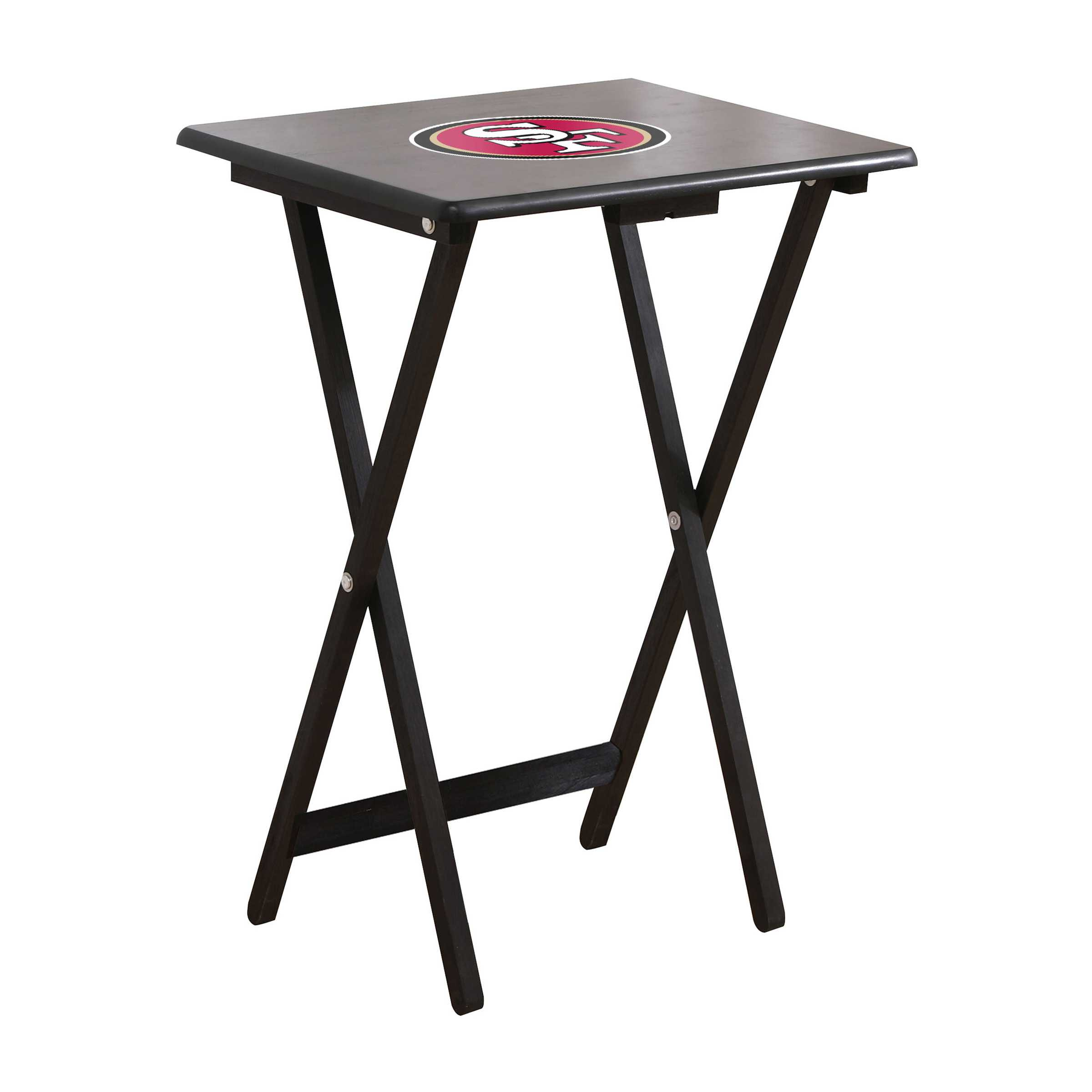SAN FRANCISCO 49ERS 4 TV TRAYS WITH STAND