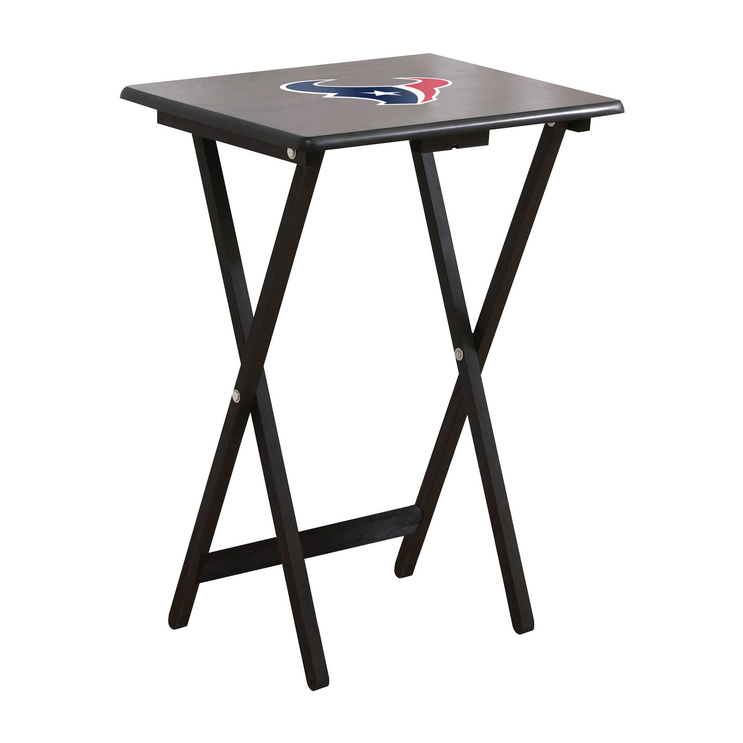 HOUSTON TEXANS 4 TV TRAYS WITH STAND
