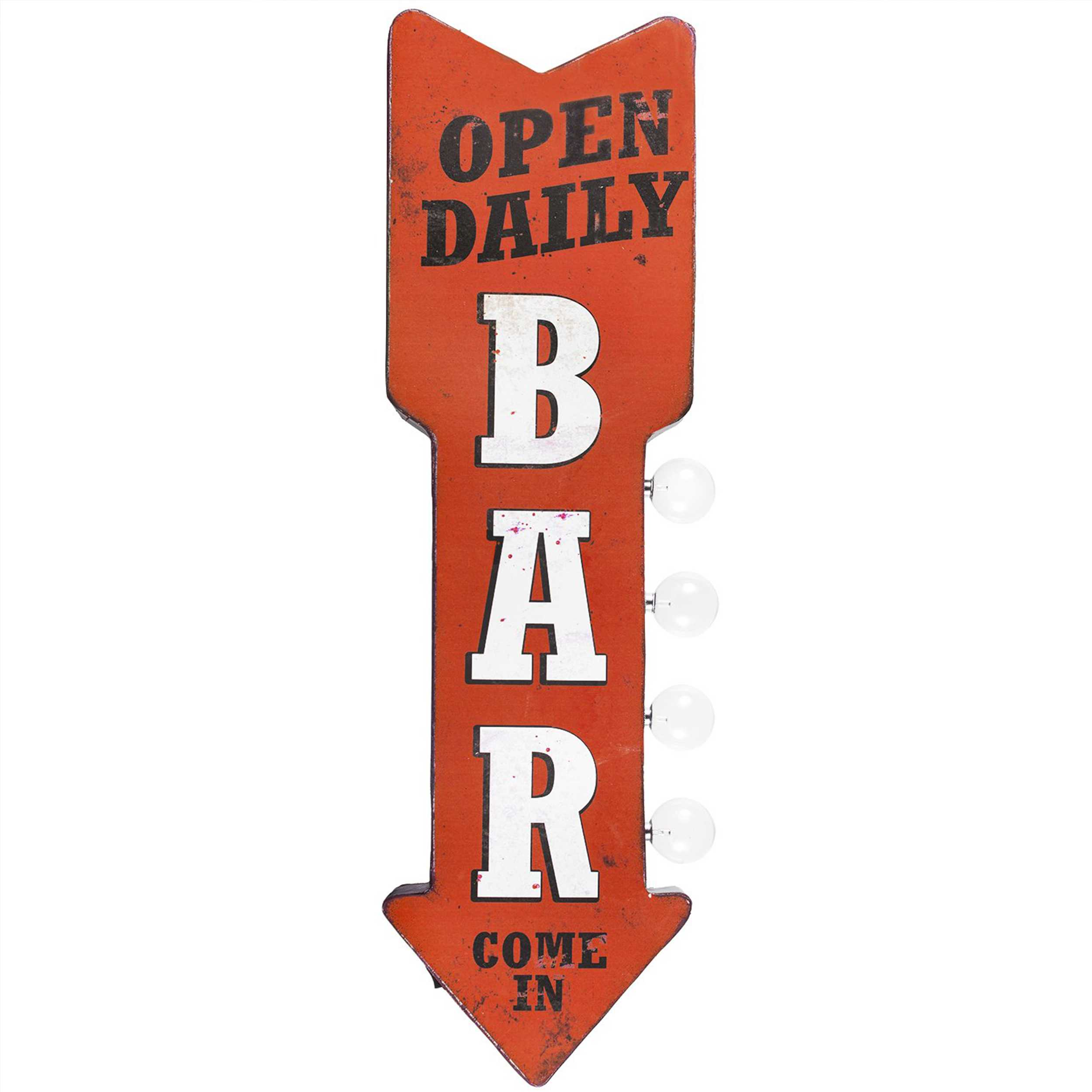 Vintage Two Sided Led Sign - Bar Arrow