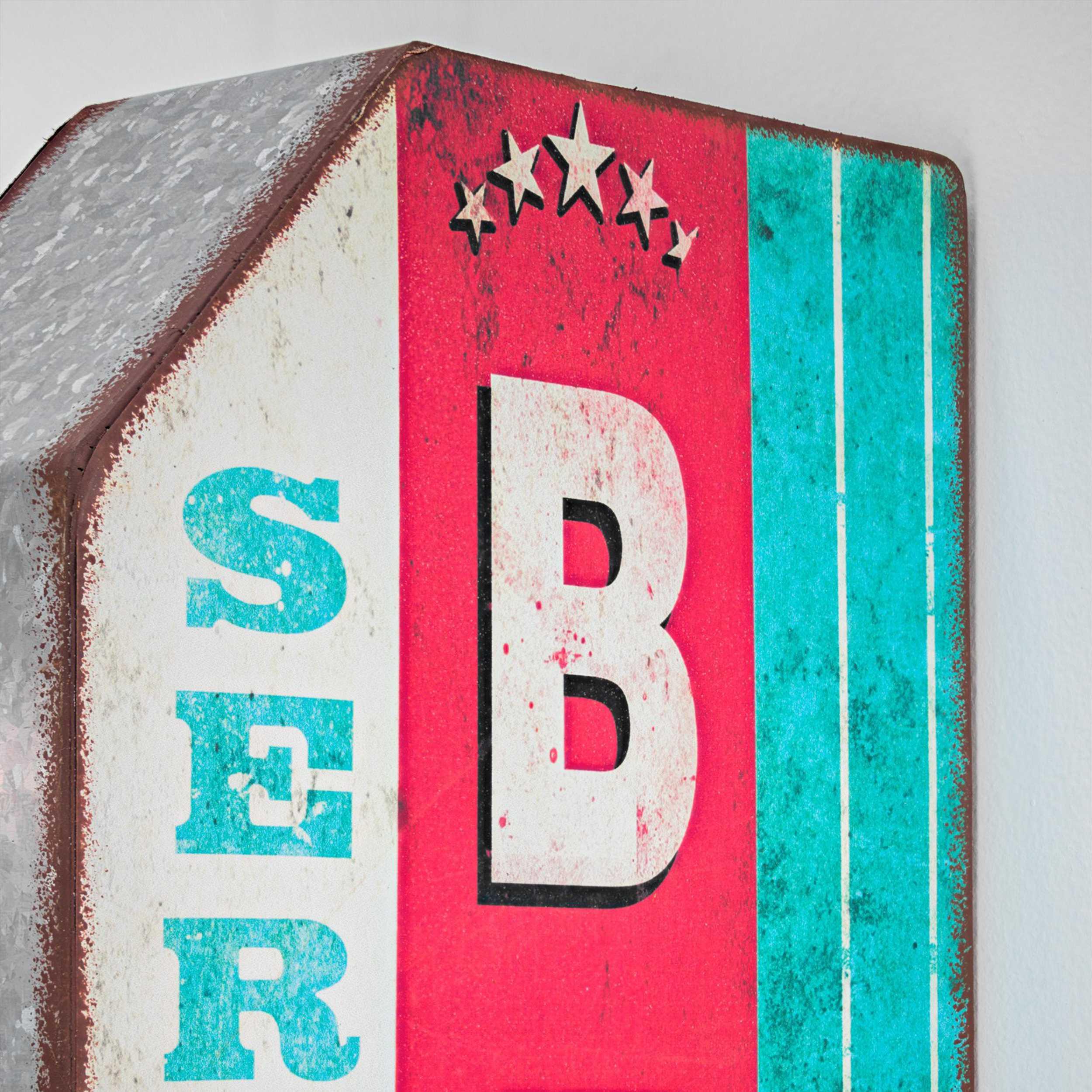 Vintage Two Sided Led Sign - Beer on Draft