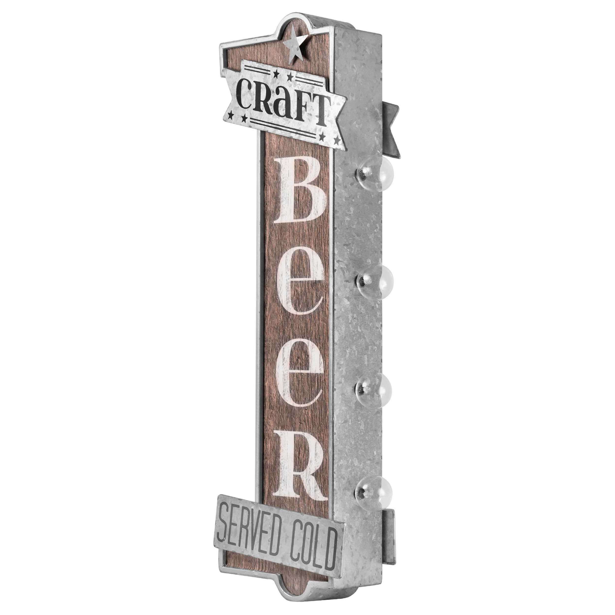 Vintage Two Sided Led Sign - Craft Beer
