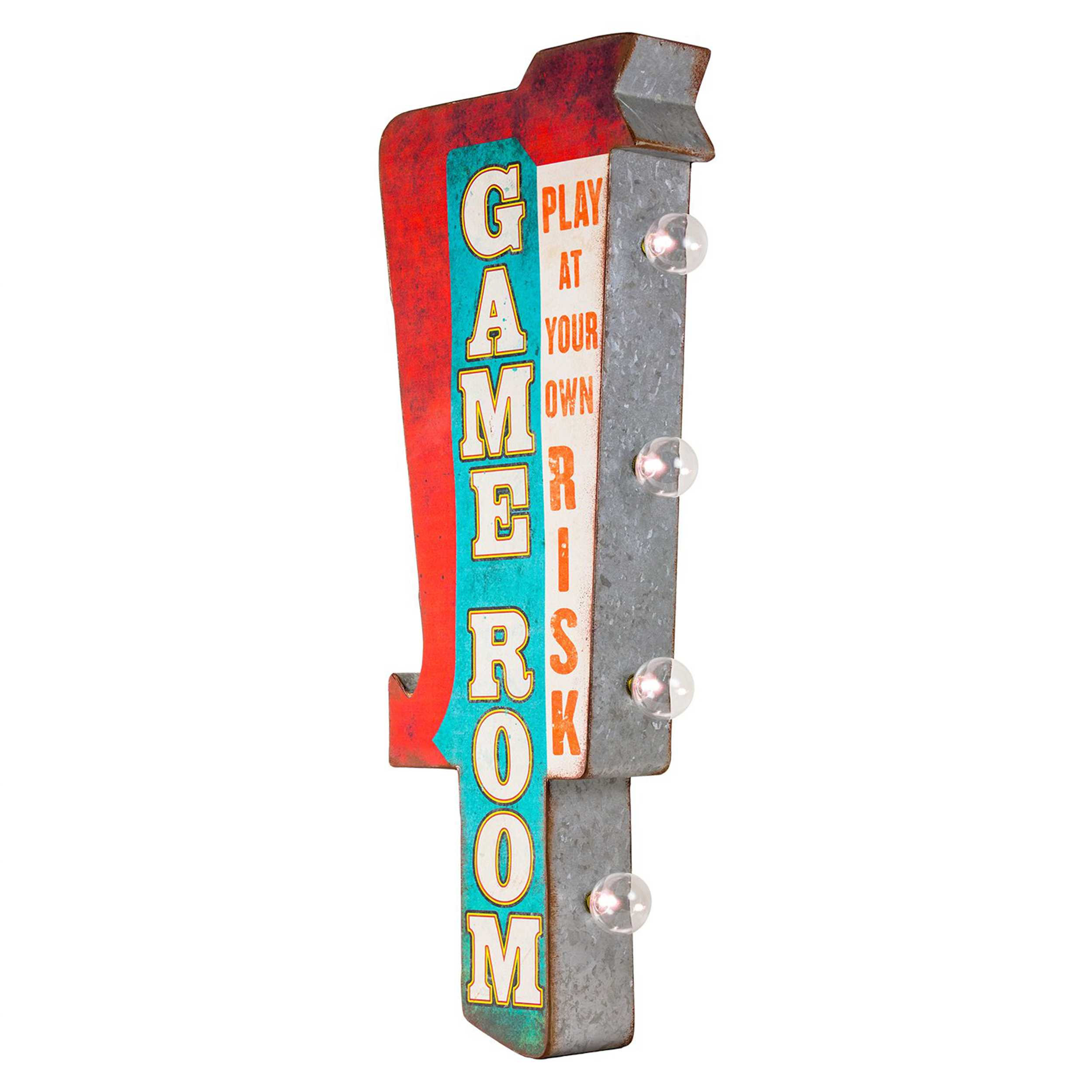 Vintage Two Sided Led Sign - Game Room