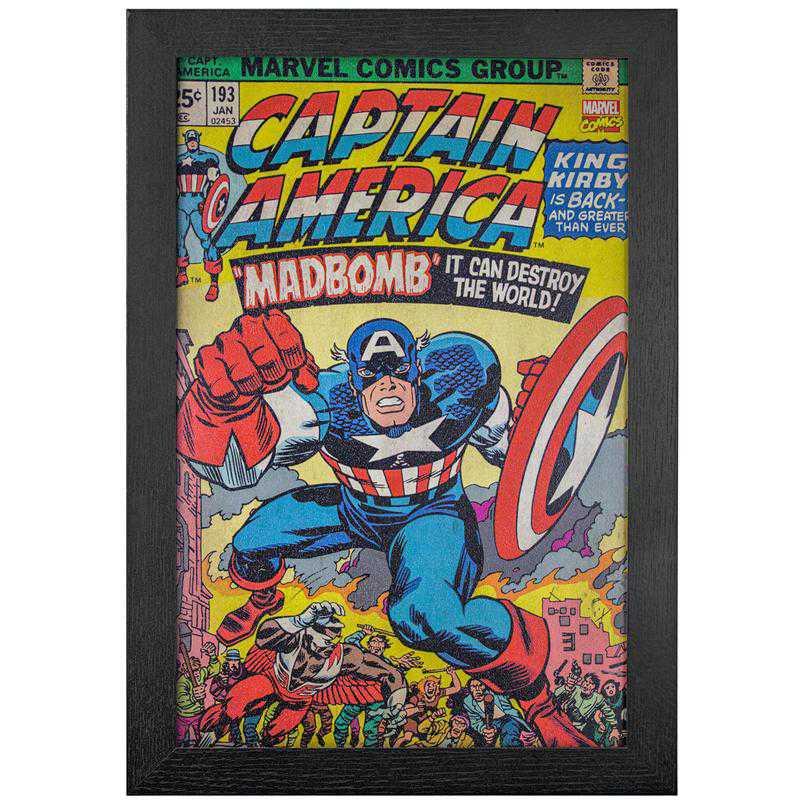 Licensed Framed Art - Captain America