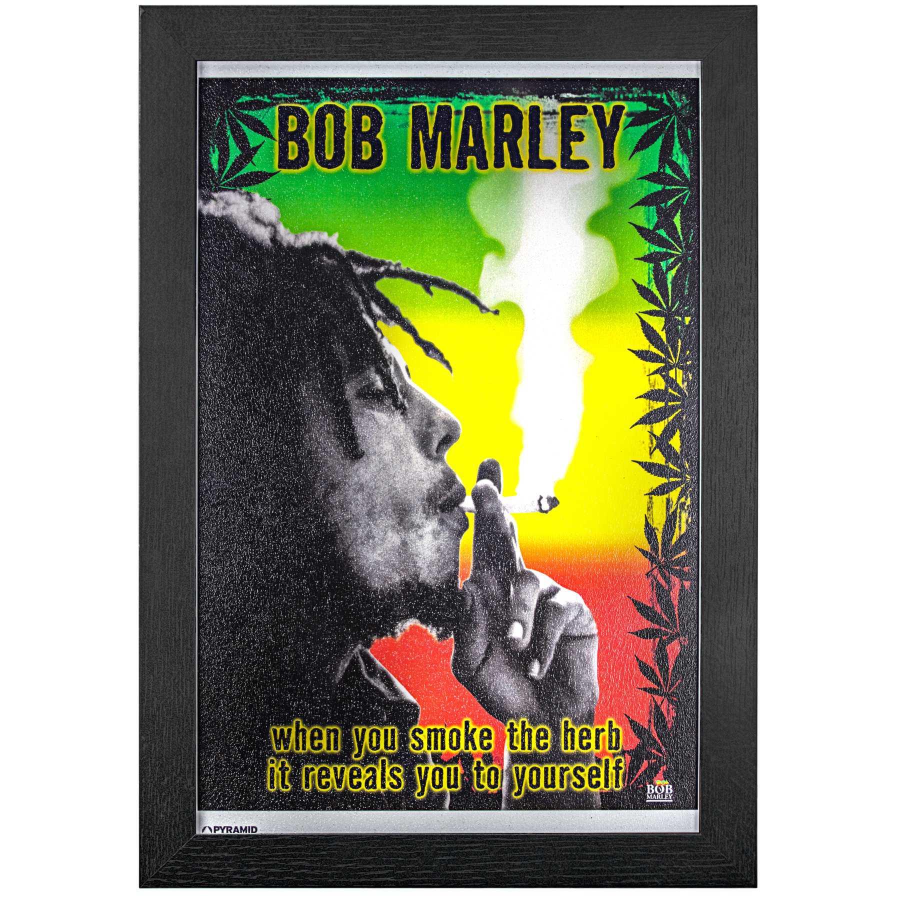 Licensed Framed Art - Bob Marley Smoke the Herb