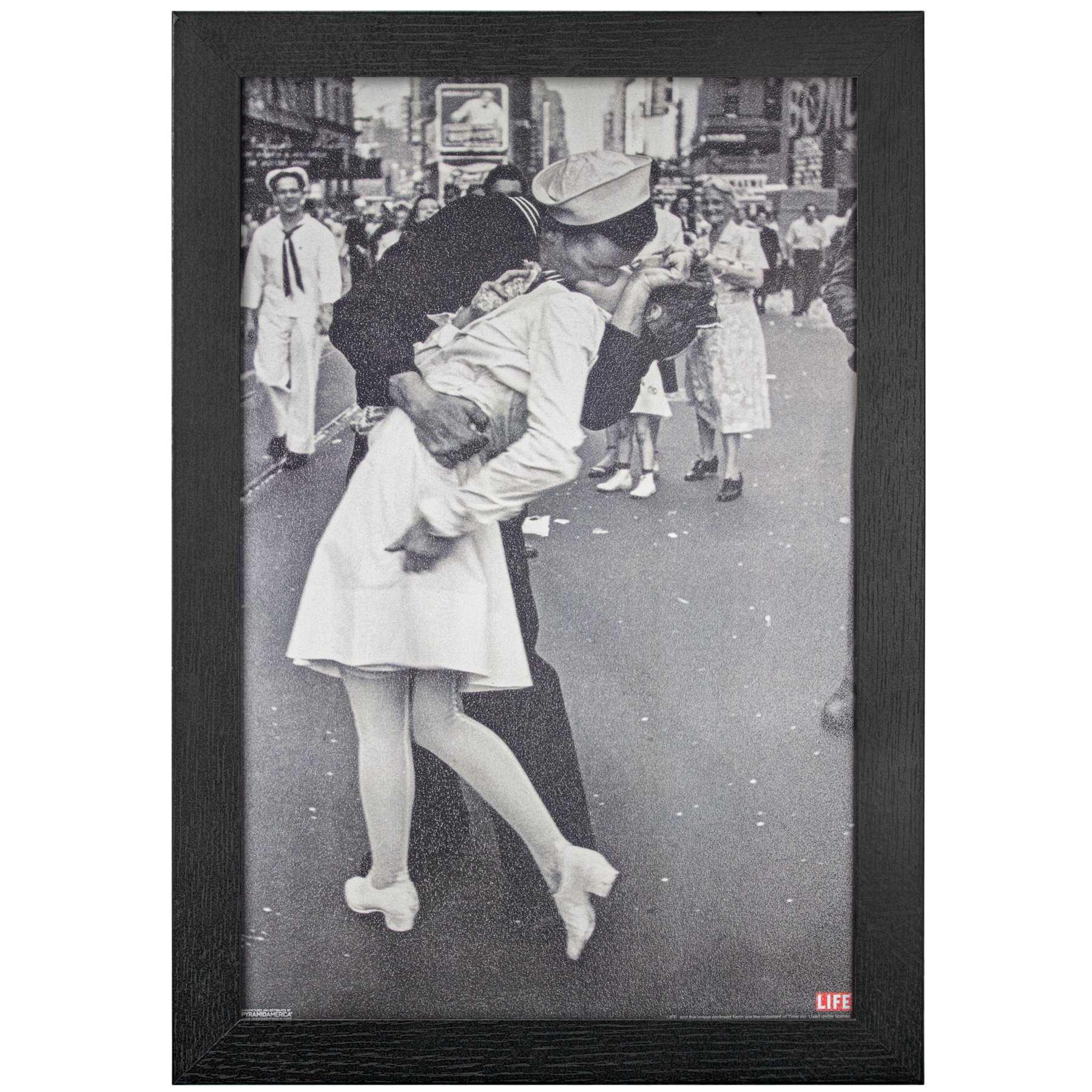 Licensed Framed Art - Kissing on VJ Day