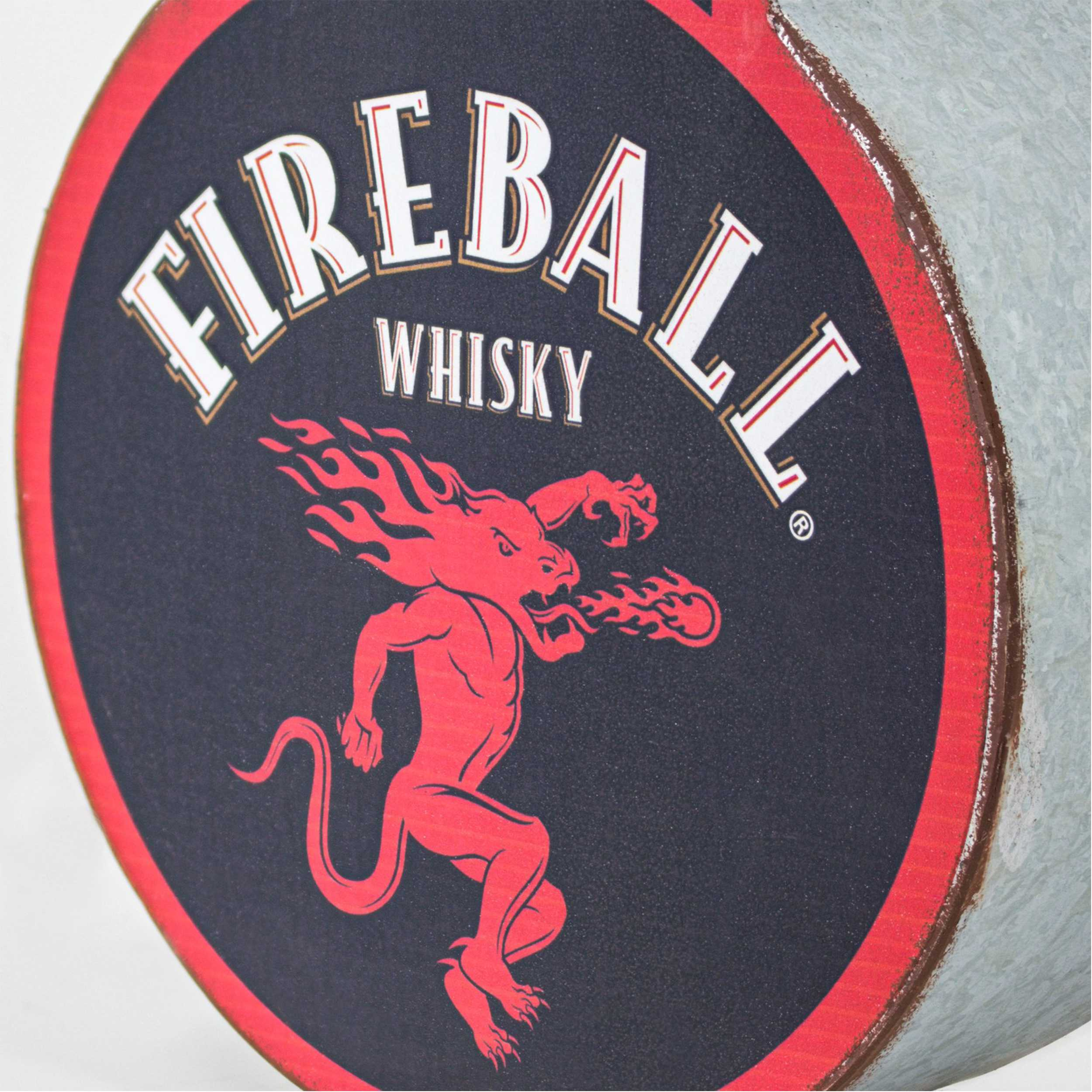 Vintage Two Sided Led Sign - Fireball Whisky