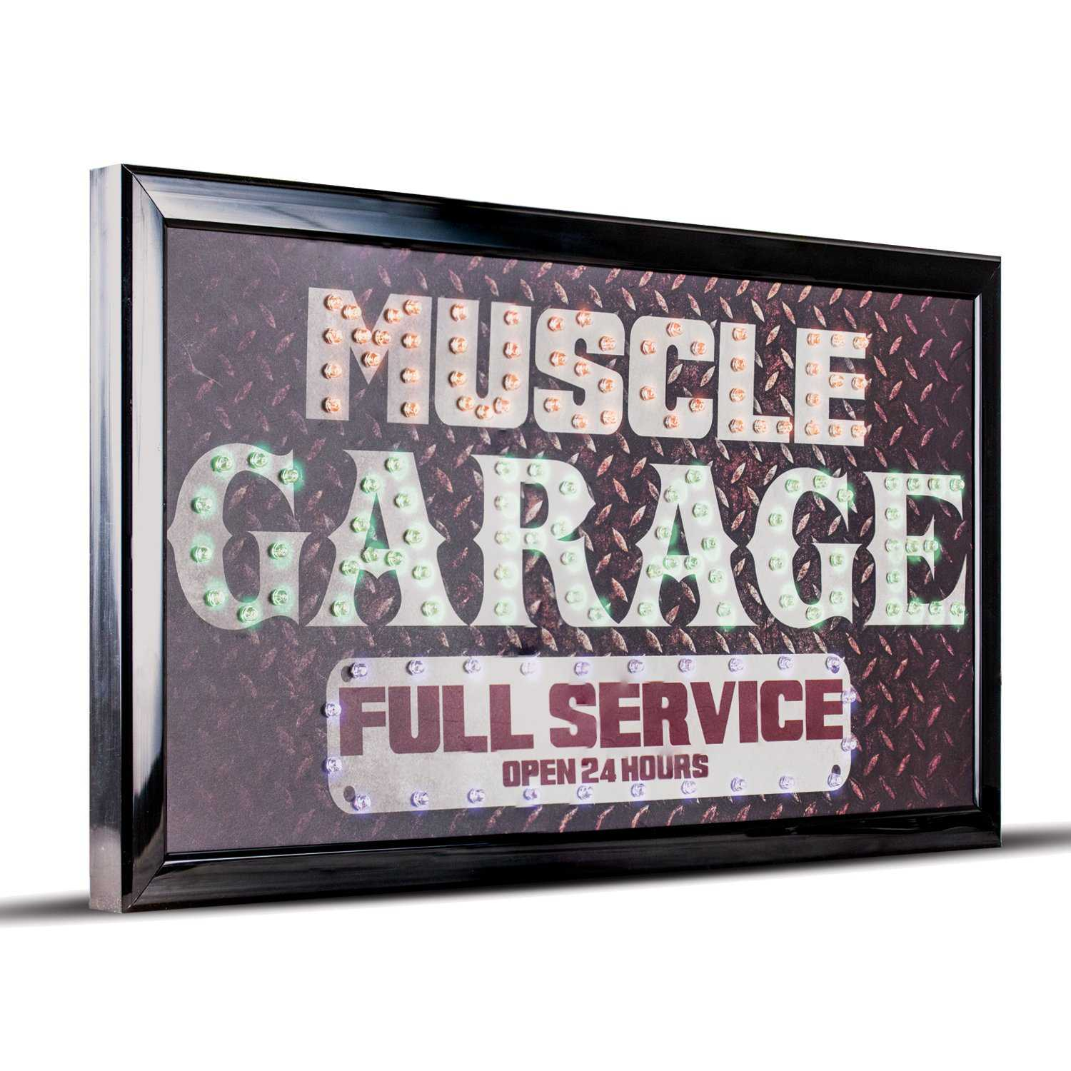 Muscle Garage Full Service LED Sign