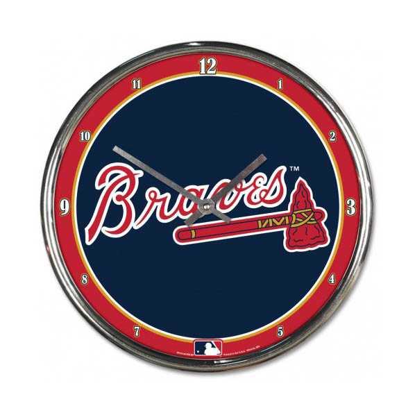 Atlanta Braves Chrome Clock