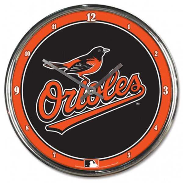 Baltimore Orioles Chrome Clock