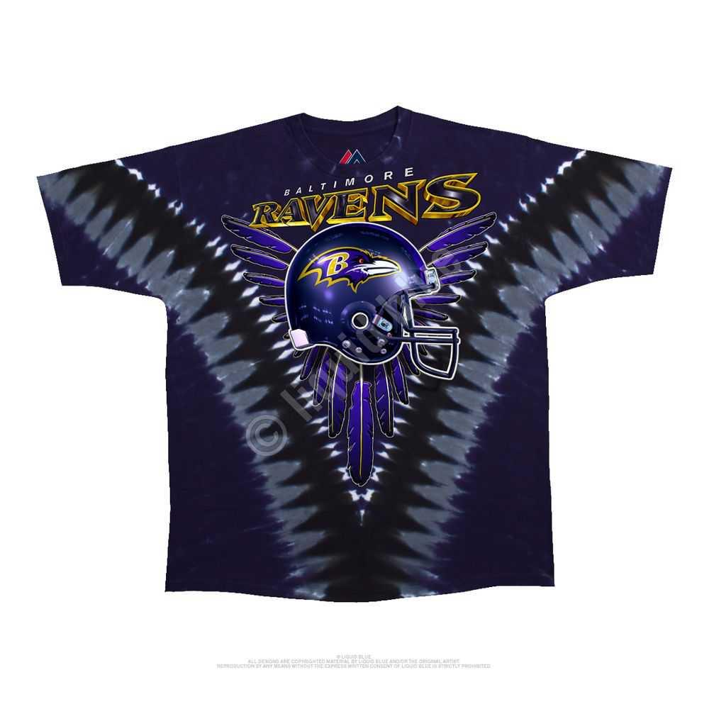 Baltimore Ravens V Tie-dye Tshirt