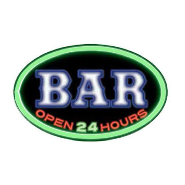 Bar Open 24 Hours Oval Shape LED Bar Rope Sign