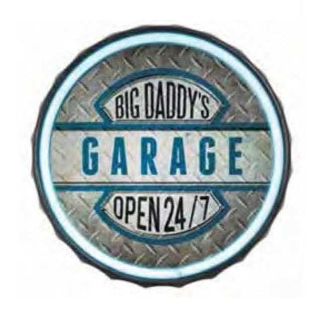 Big Daddy's Garage Round Shape LED Bar Rope Sign
