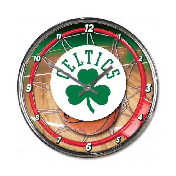 Boston Celtics Chrome Clock