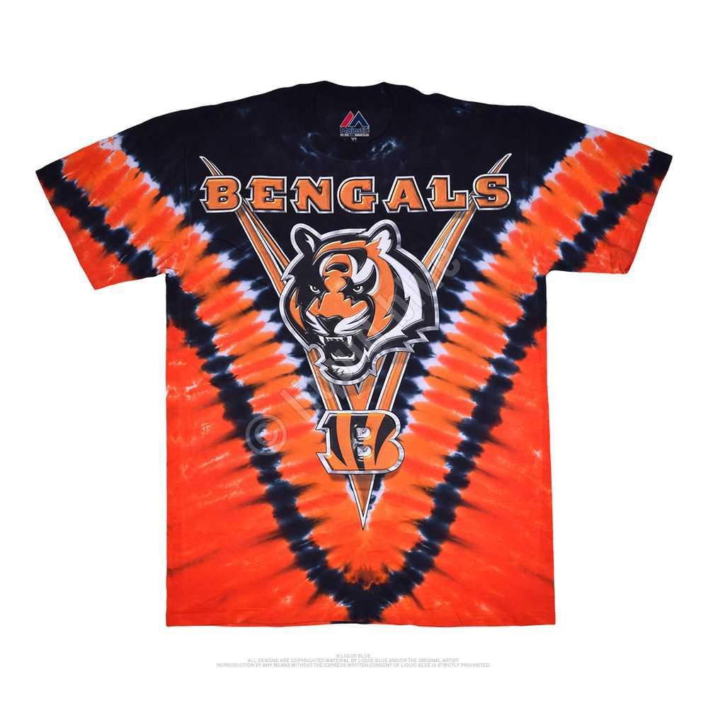Cincinnati Bengals V Tie-dye Tshirt