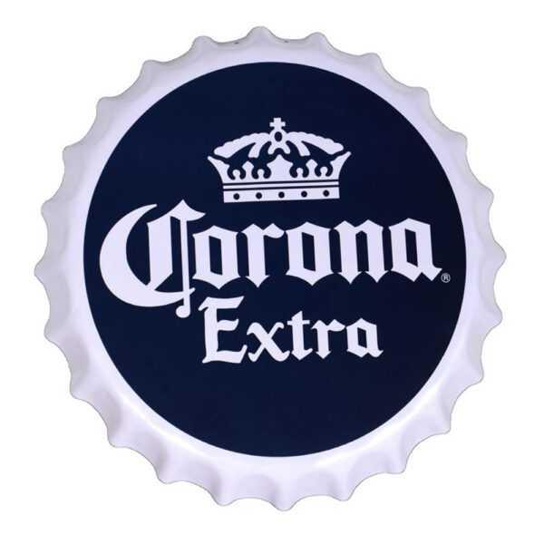 Corona Extra Scalloped Edge Metal Sign