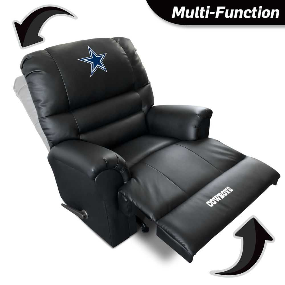 Dallas Cowboys Leather Sports Recliner