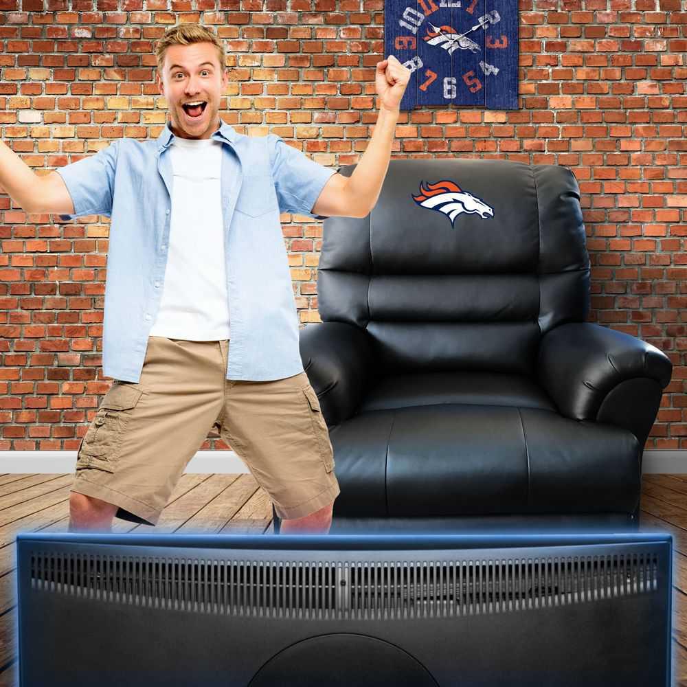 Denver Broncos Leather Sports Recliner