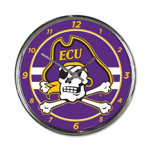 East Carolina University Chrome Clock