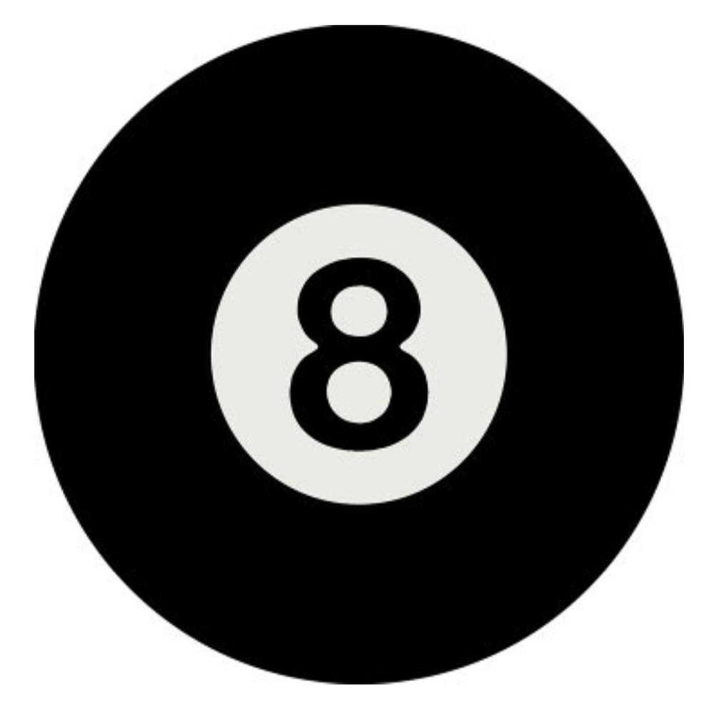 8 Ball Dome Metal Sign