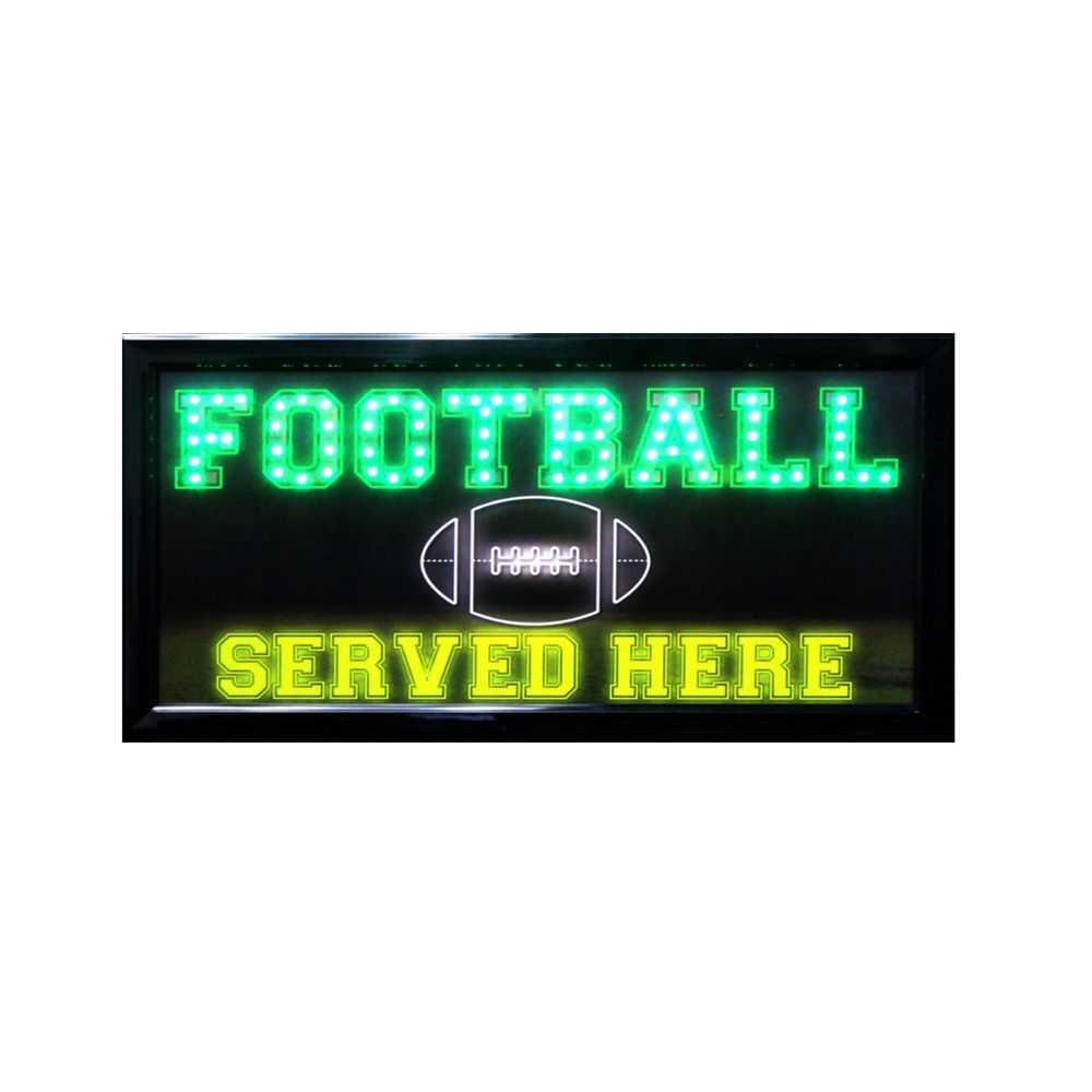 Football Serve Here LED Sign