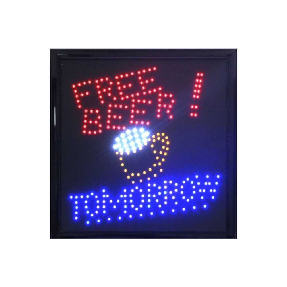 Free Beer Tomorrow LED Sign