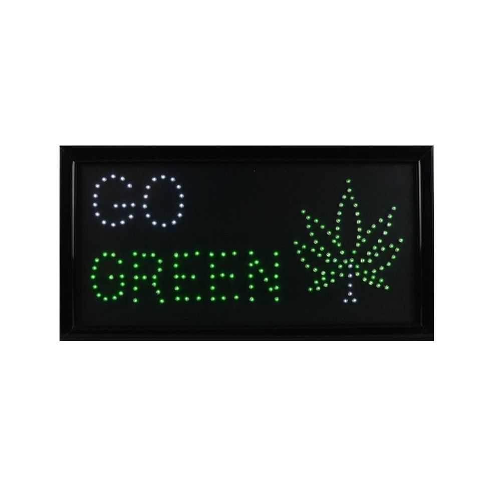 Go Green LED Sign
