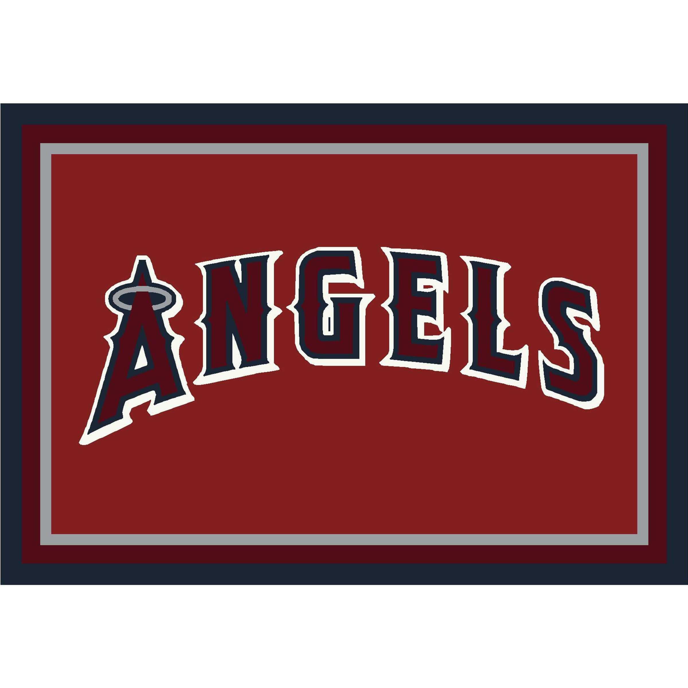 LOS ANGELES ANGELS 8X11 SPIRIT RUG