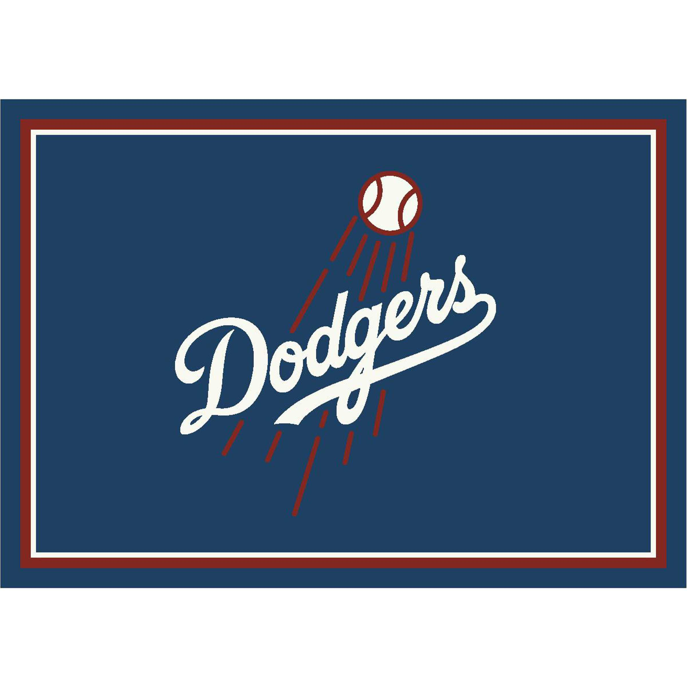 LOS ANGELES DODGERS 8X11 SPIRIT RUG