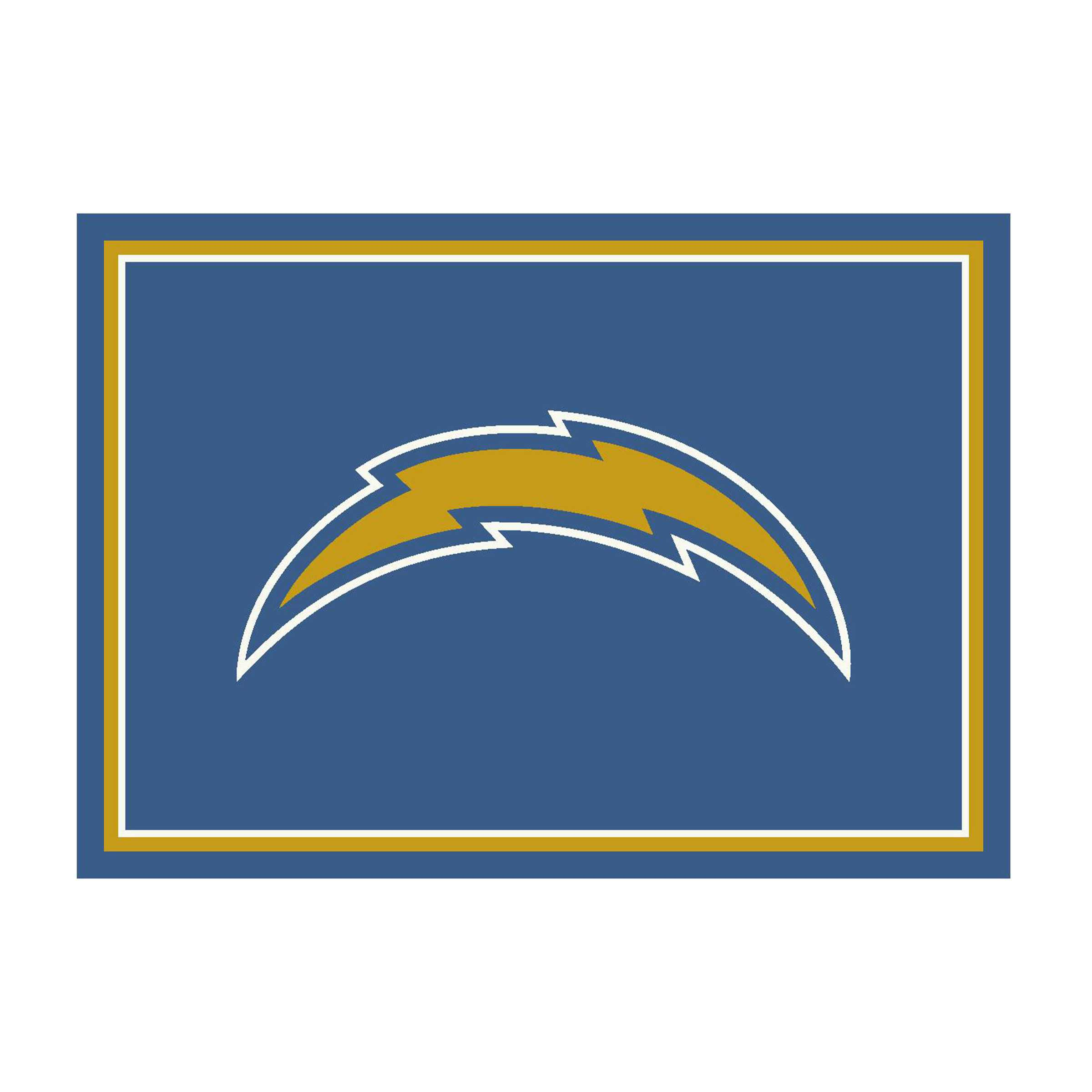 LOS ANGELES CHARGERS 8X11 SPIRIT RUG