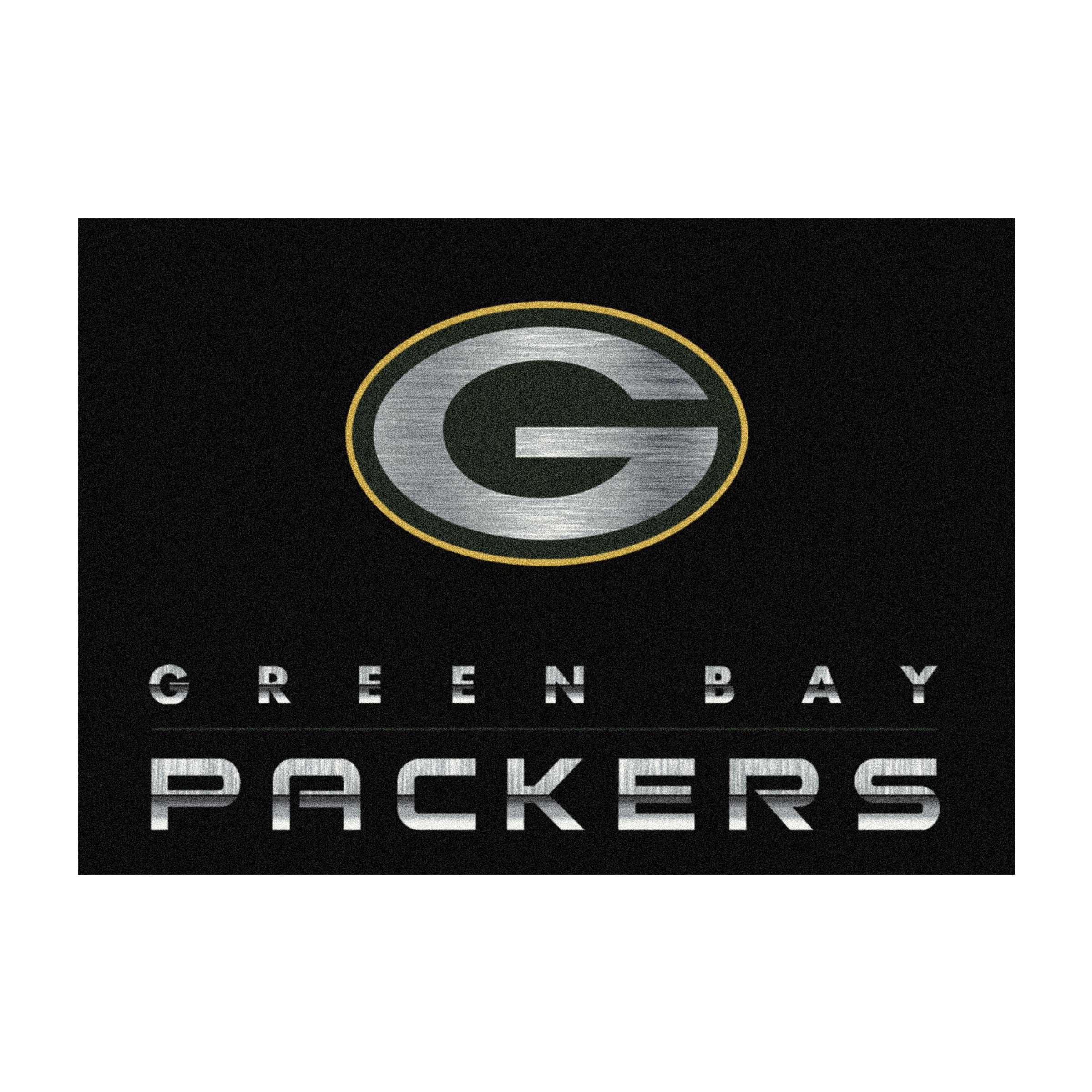 GREEN BAY PACKERS 8X11 CHROME RUG