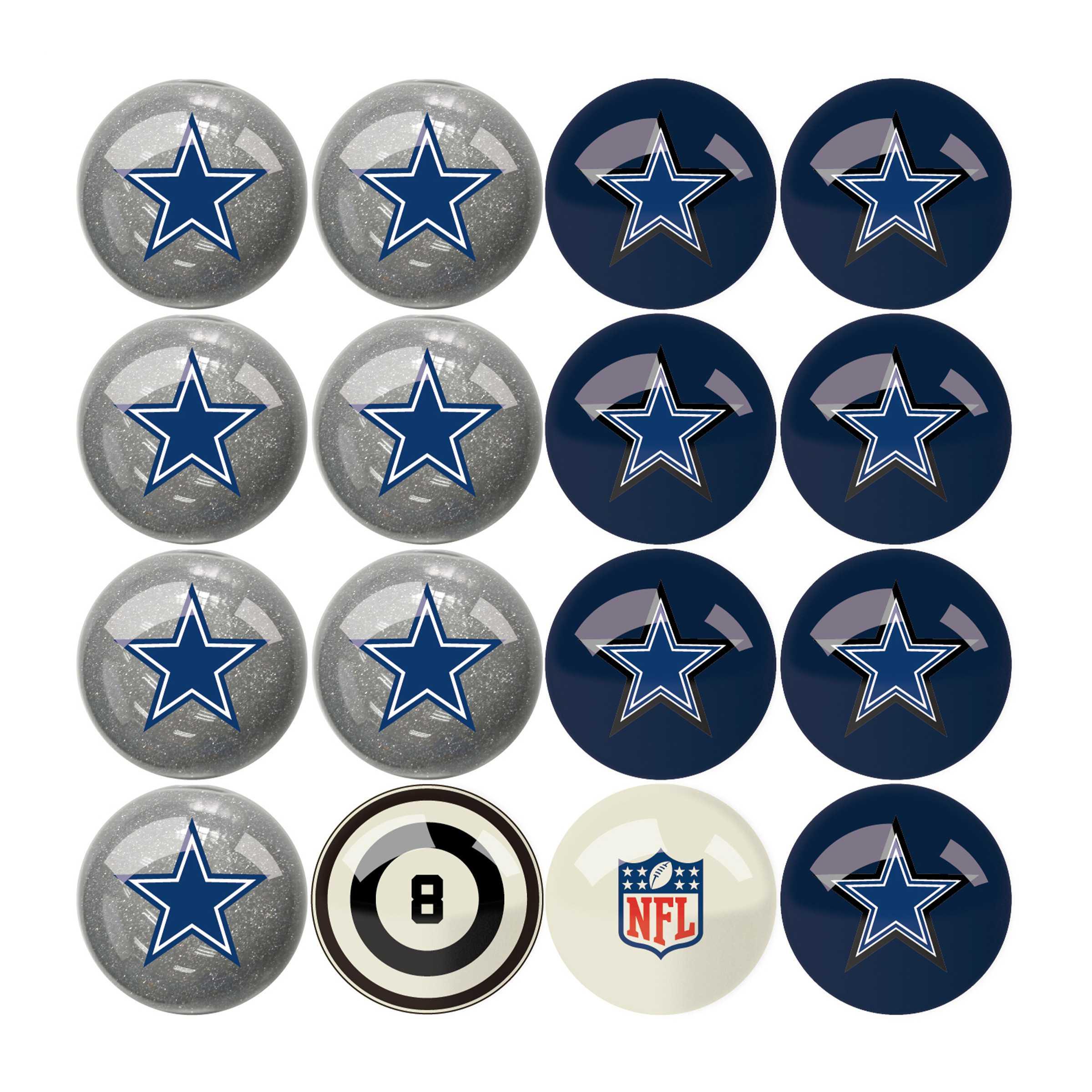 Dallas Cowboys Billiard Balls with Numbers