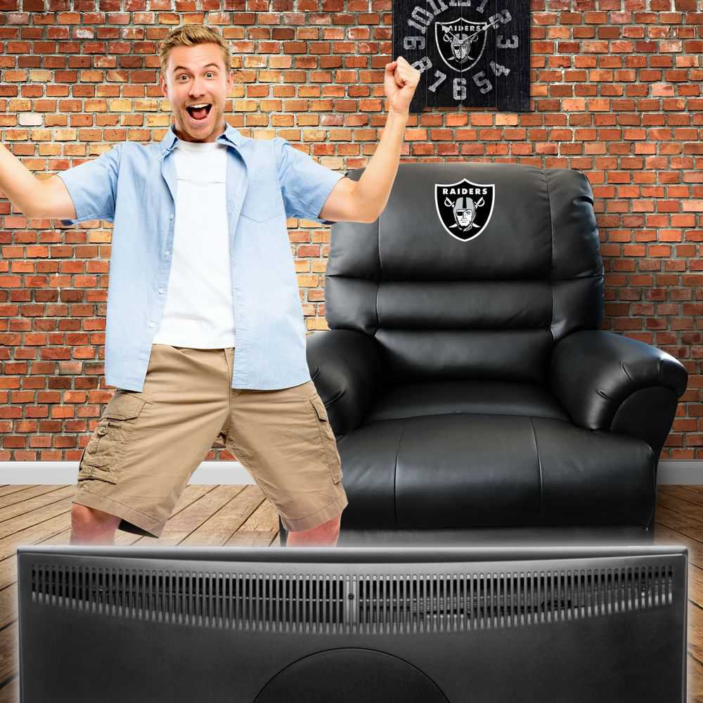 Oakland Raiders Leather Sports Recliner
