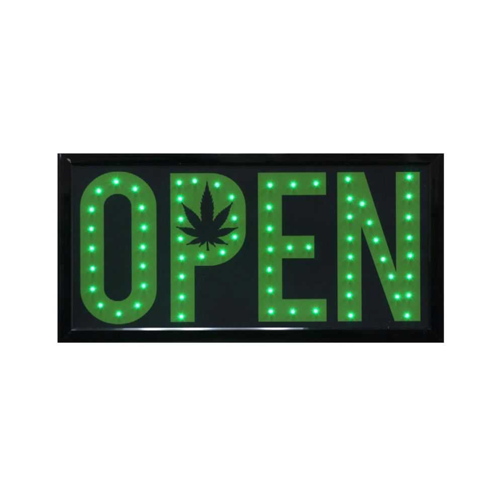 Open Leaf LED Sign